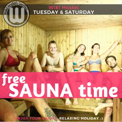 wiki hostel sauna party