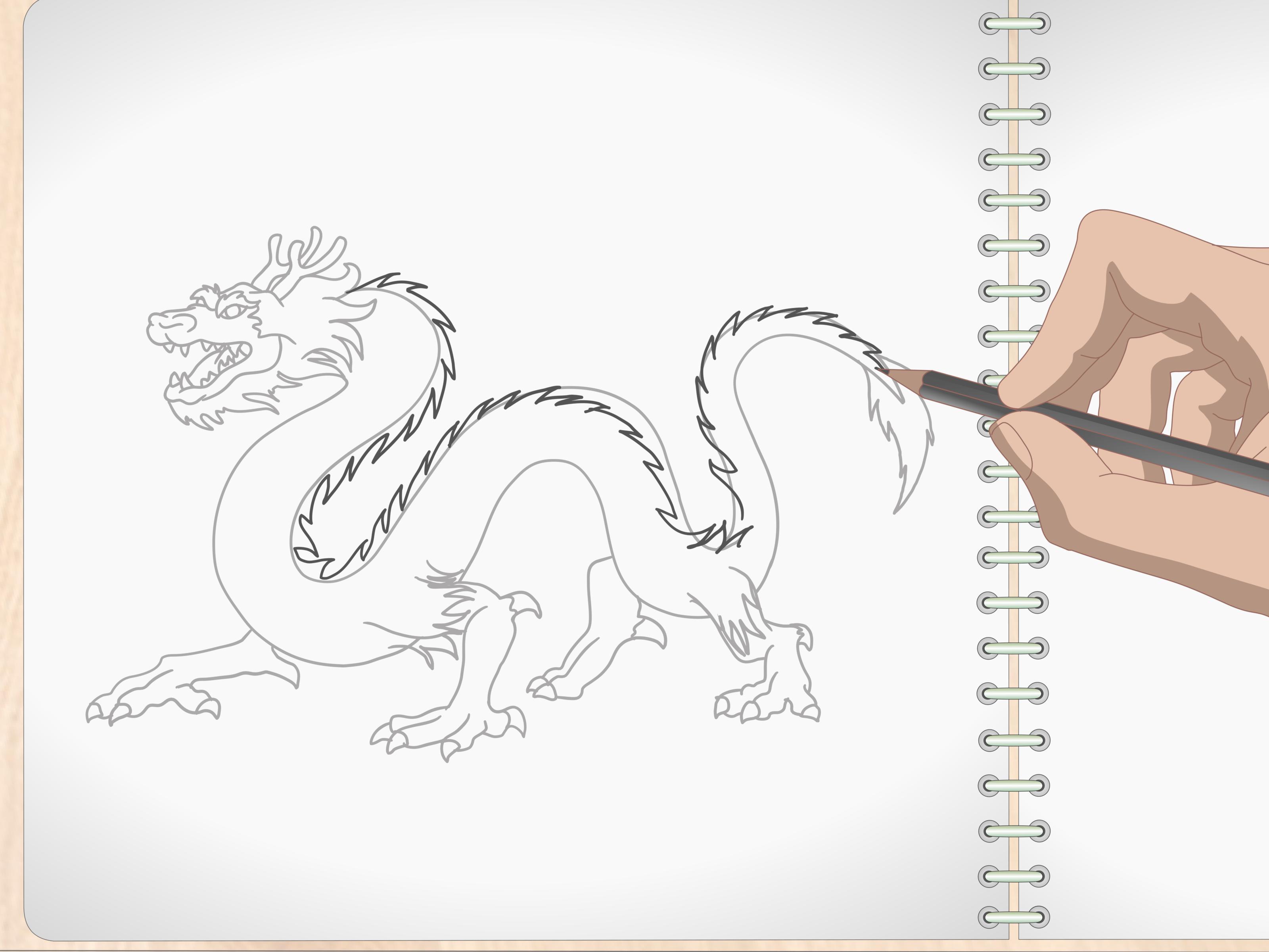 Comment Dessiner Un Dragon Avec Images Wikihow