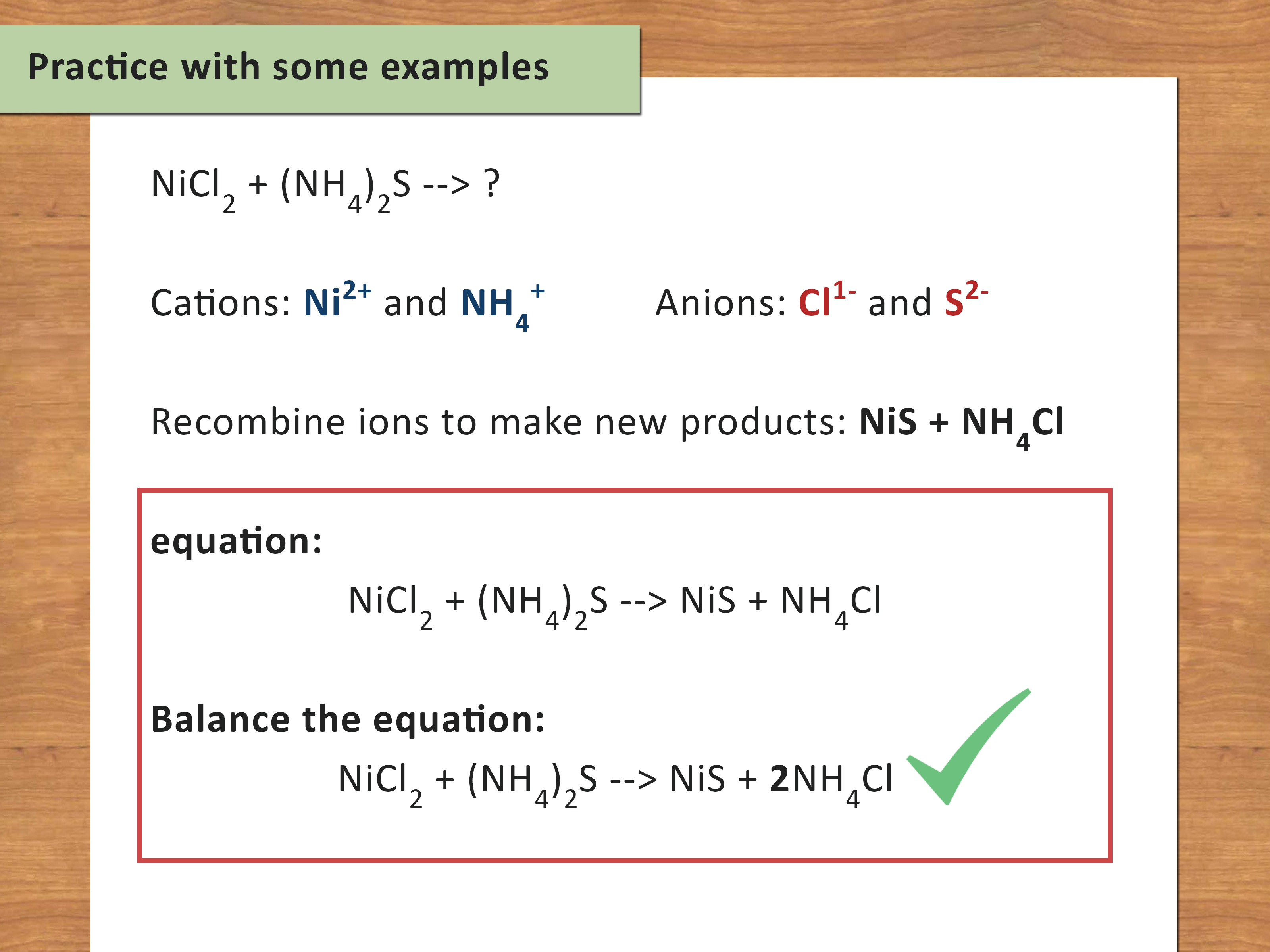 How To Balance Chemical Equations Step By