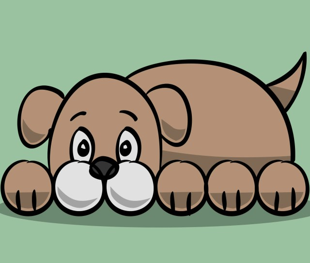 How To Draw A Simple Cartoon Dog  Steps With Pictures