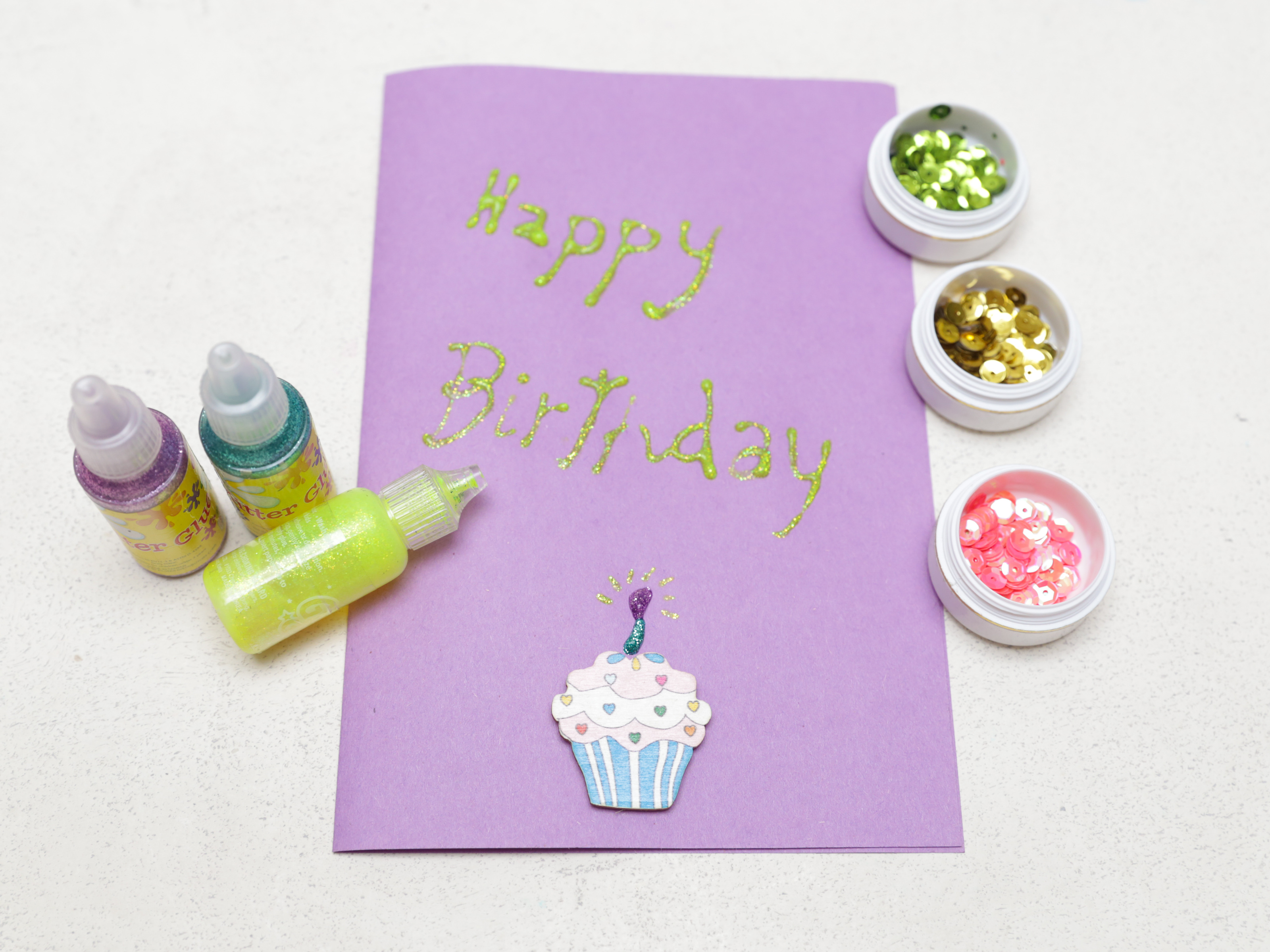 Image Of How To Make Greeting Cards For Birthday In Home Step By