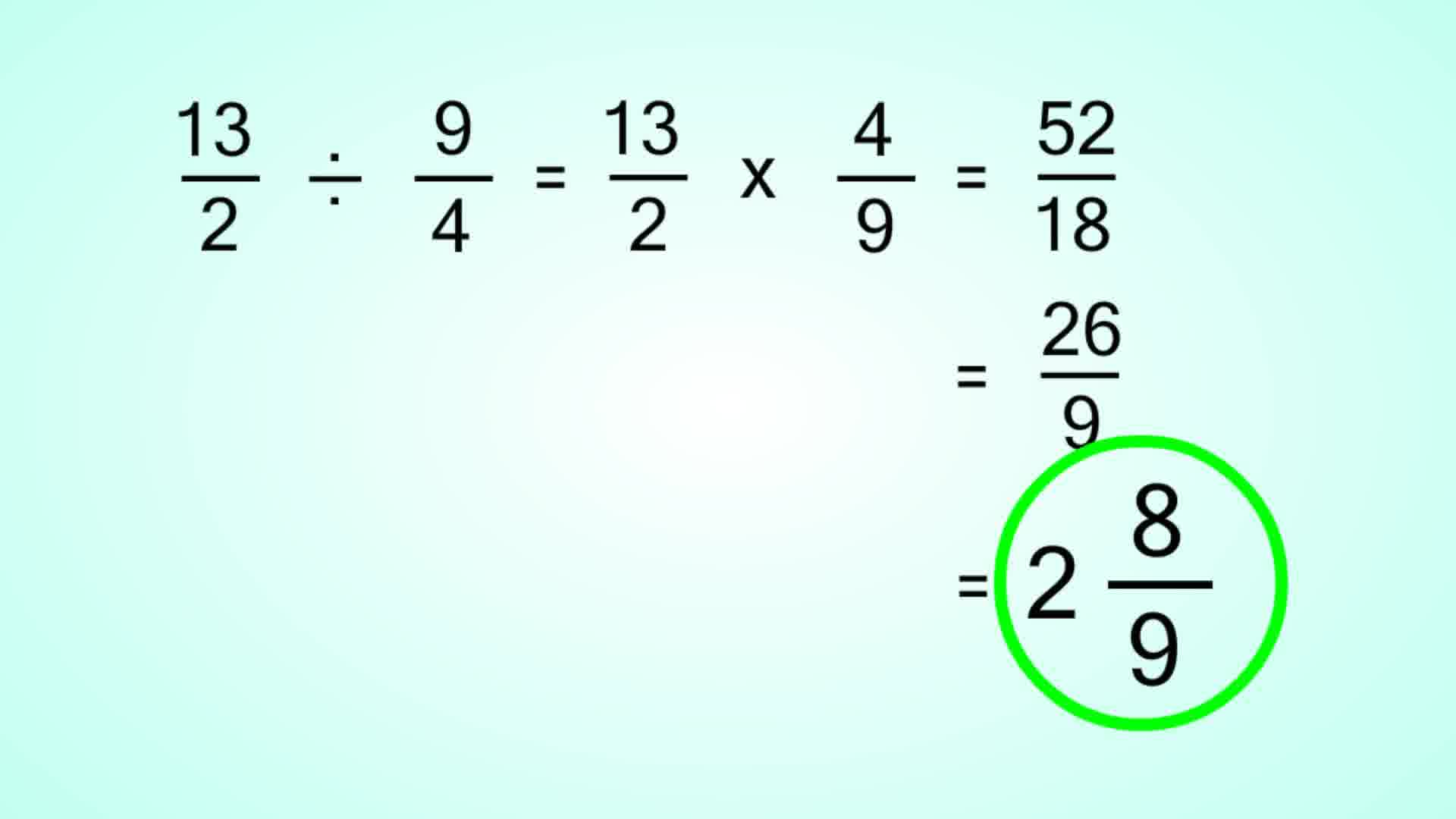 How To Divide Mixed Fractions 13 Steps With Pictures