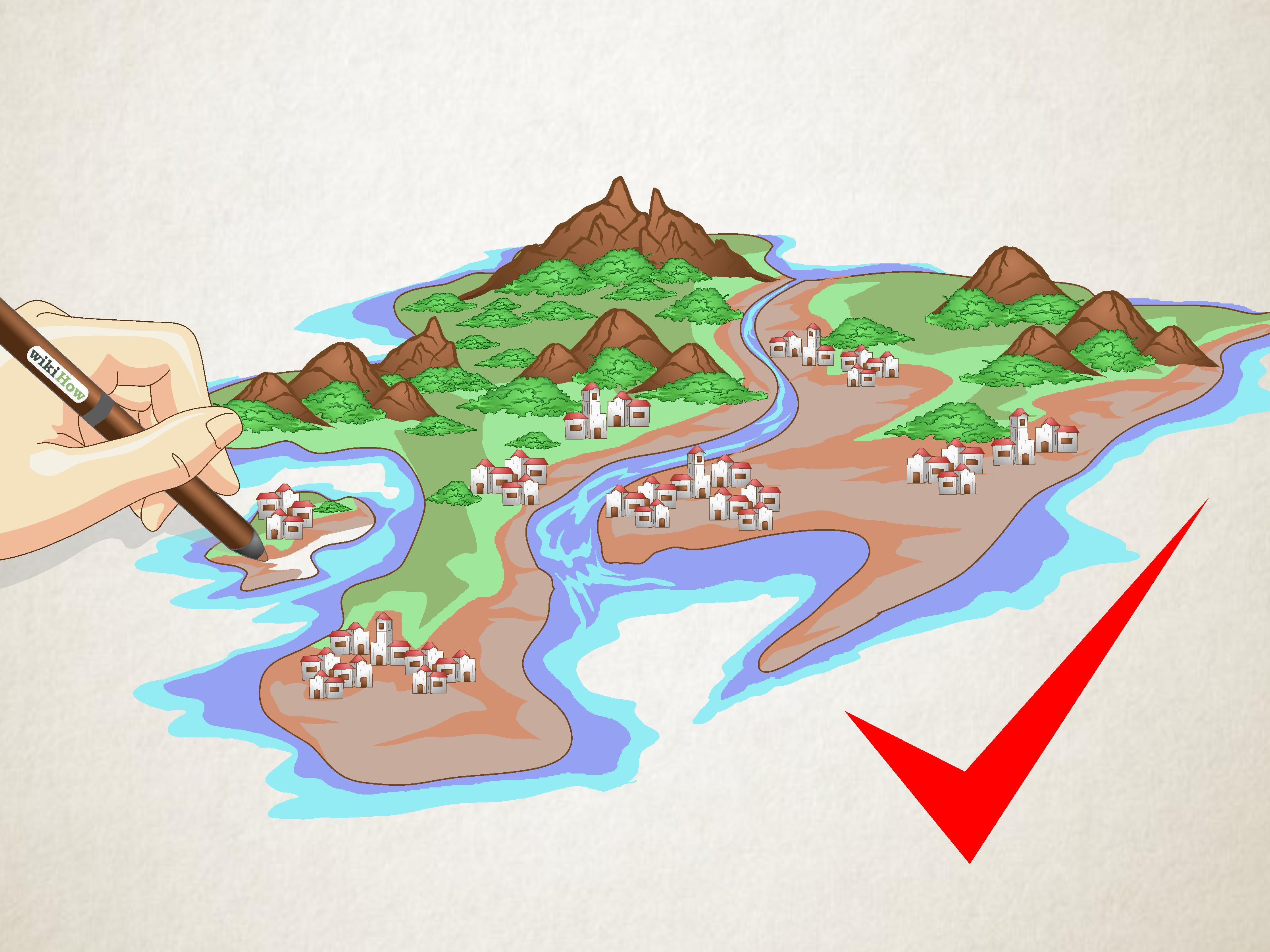How To Draw A Map Of An Imaginary Place 12 Steps With