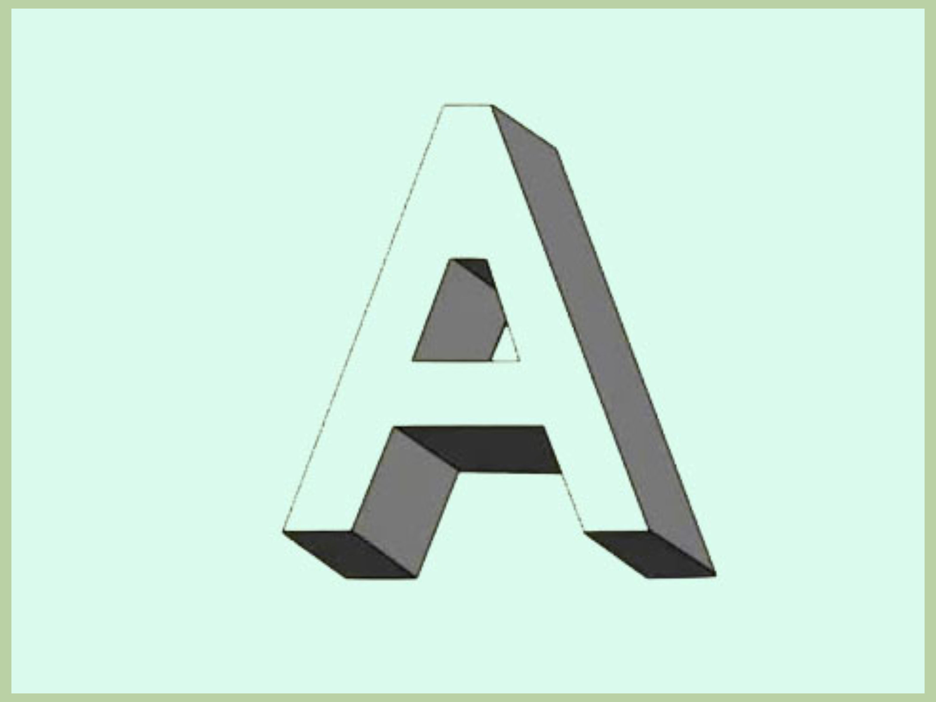 How To Draw Shadow Effect 3d Block Letters 7 Steps