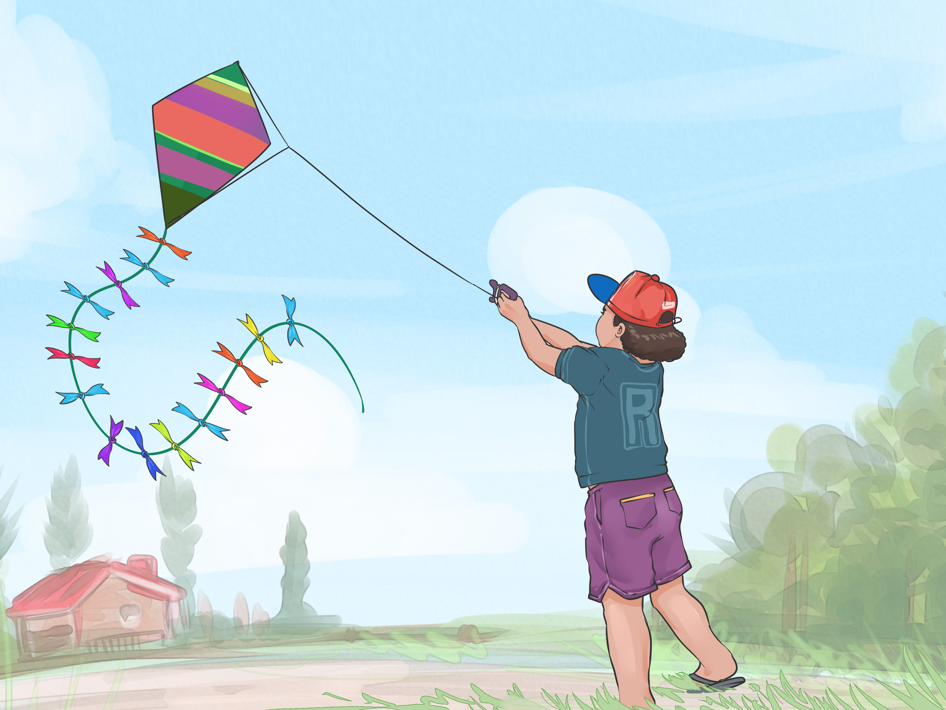 How To Make A Kite For Kids With Pictures