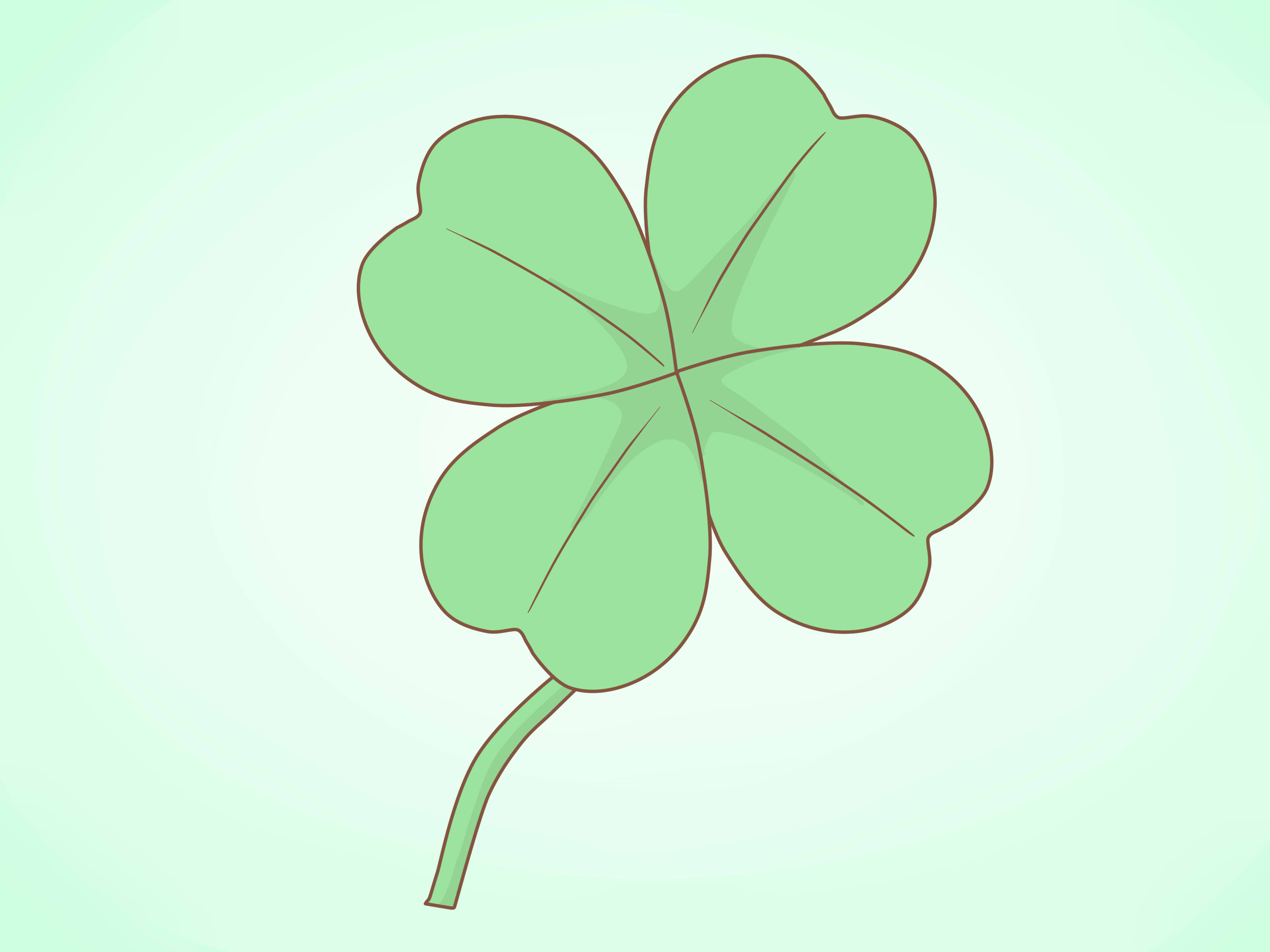 How To Draw A Clover 11 Steps With Pictures