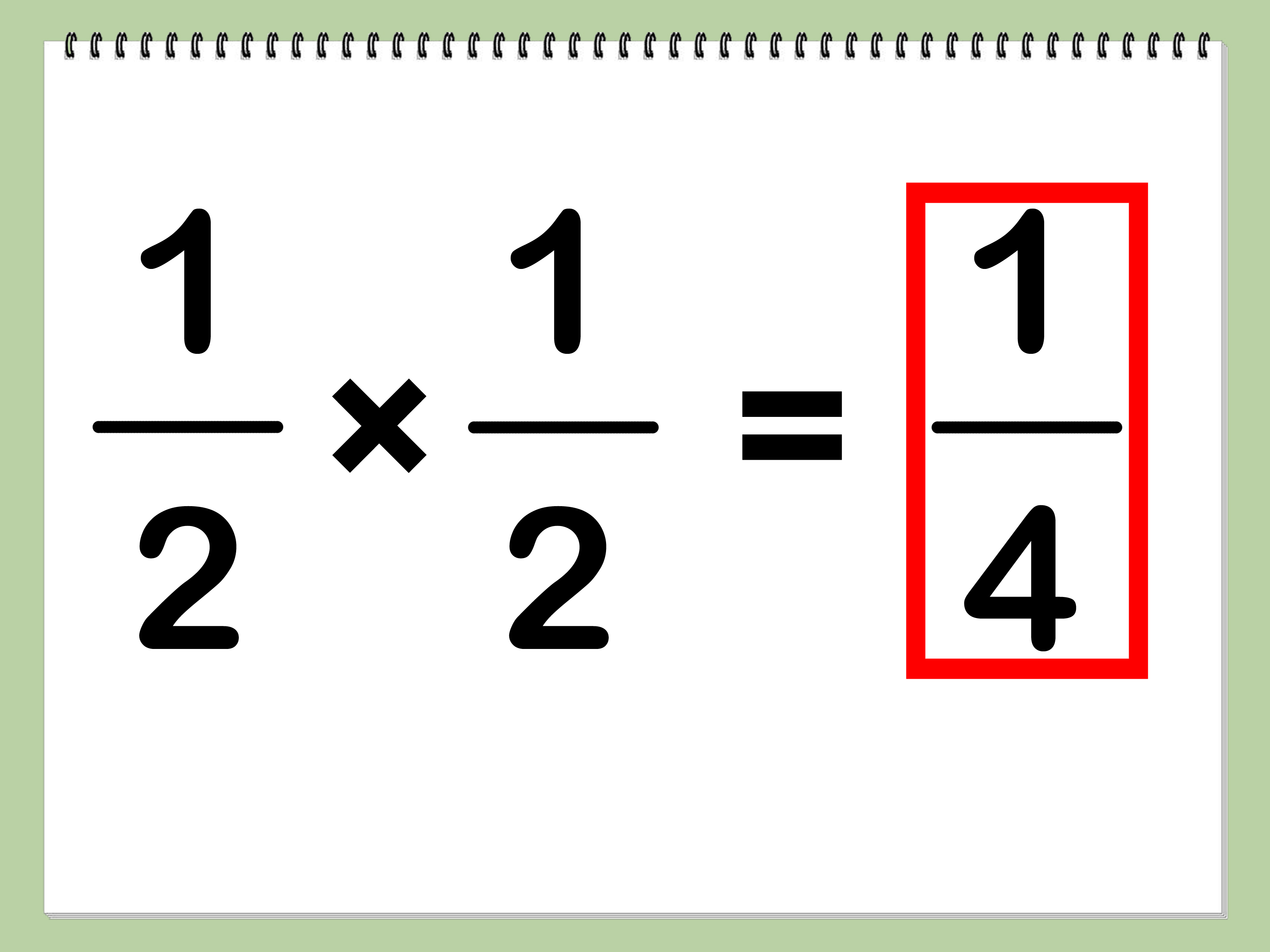 How To Multiply Fractions 10 Steps With Pictures