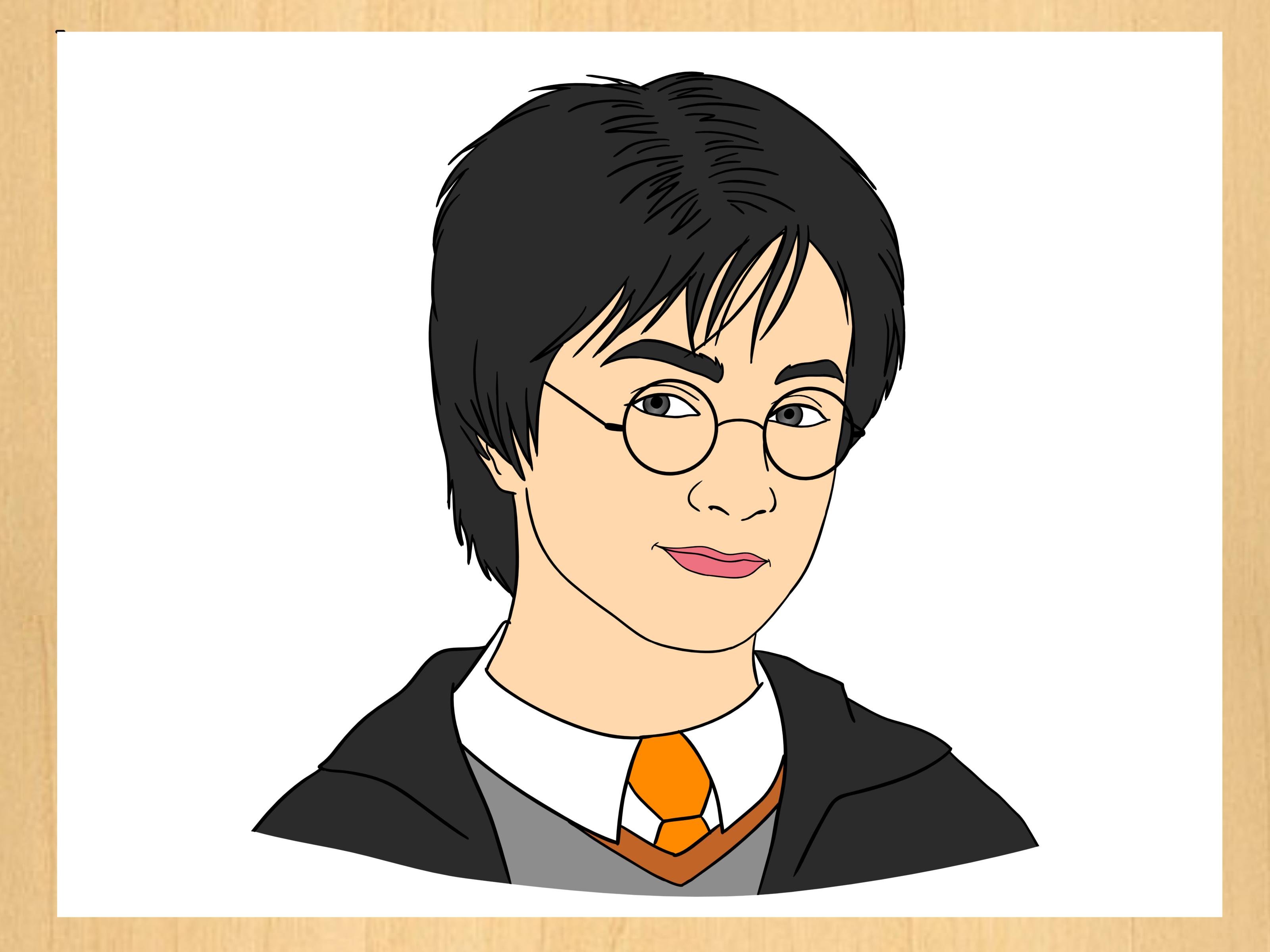 How To Draw Harry Potter 9 Steps With Pictures