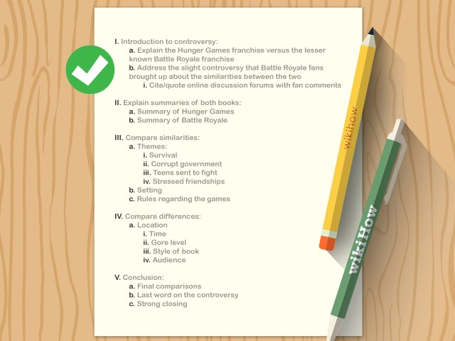 How to Write an Outline (with Pictures) - wikiHow