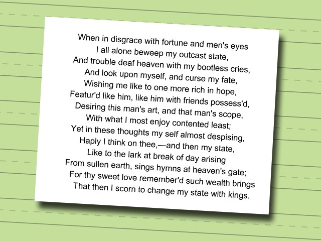 how to write a sonnet like shakespeare