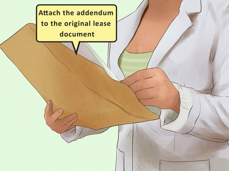 How to Write an Addendum to a Lease  with Sample Addendums
