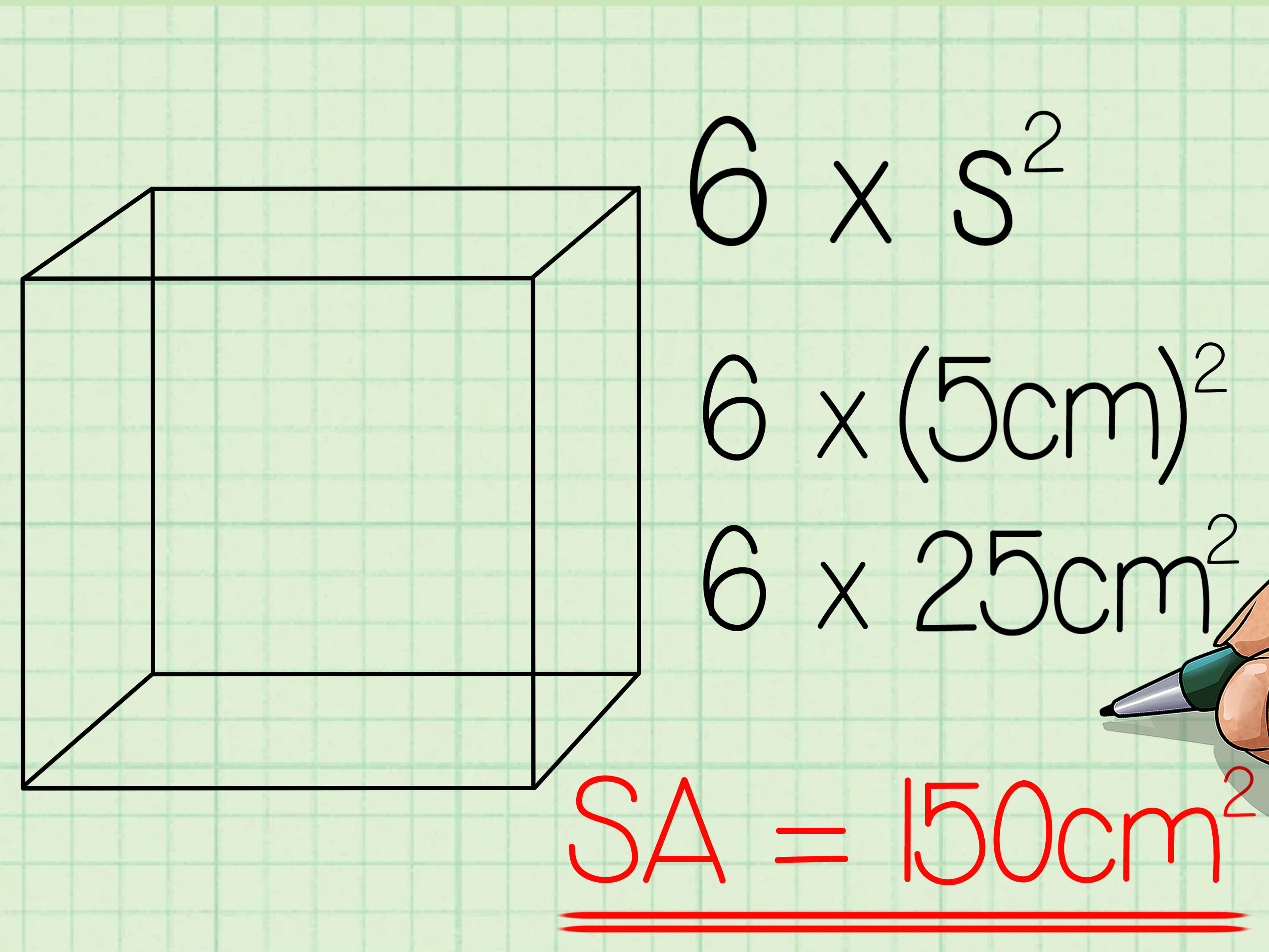 How To Find The Surface Area Of A Cube 7 Steps With