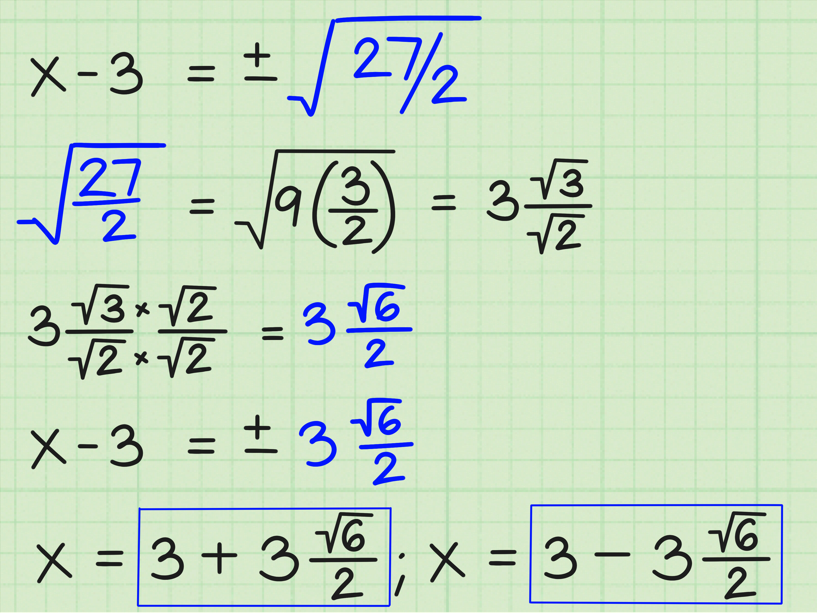 22 2 Solving Equations By Completing The Square Answers