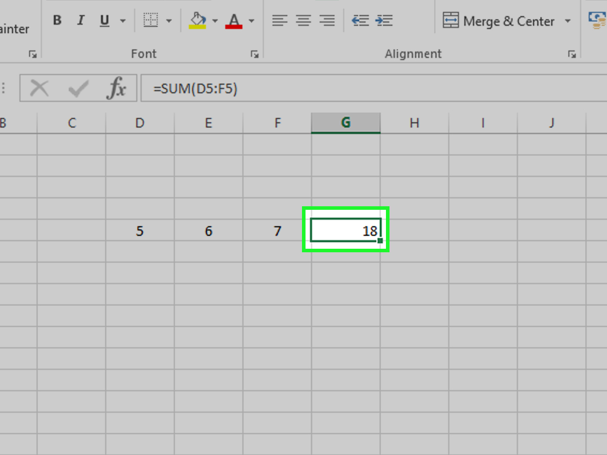 How To Use The Autosum Shortcut In Excel 3 Steps With Pictures