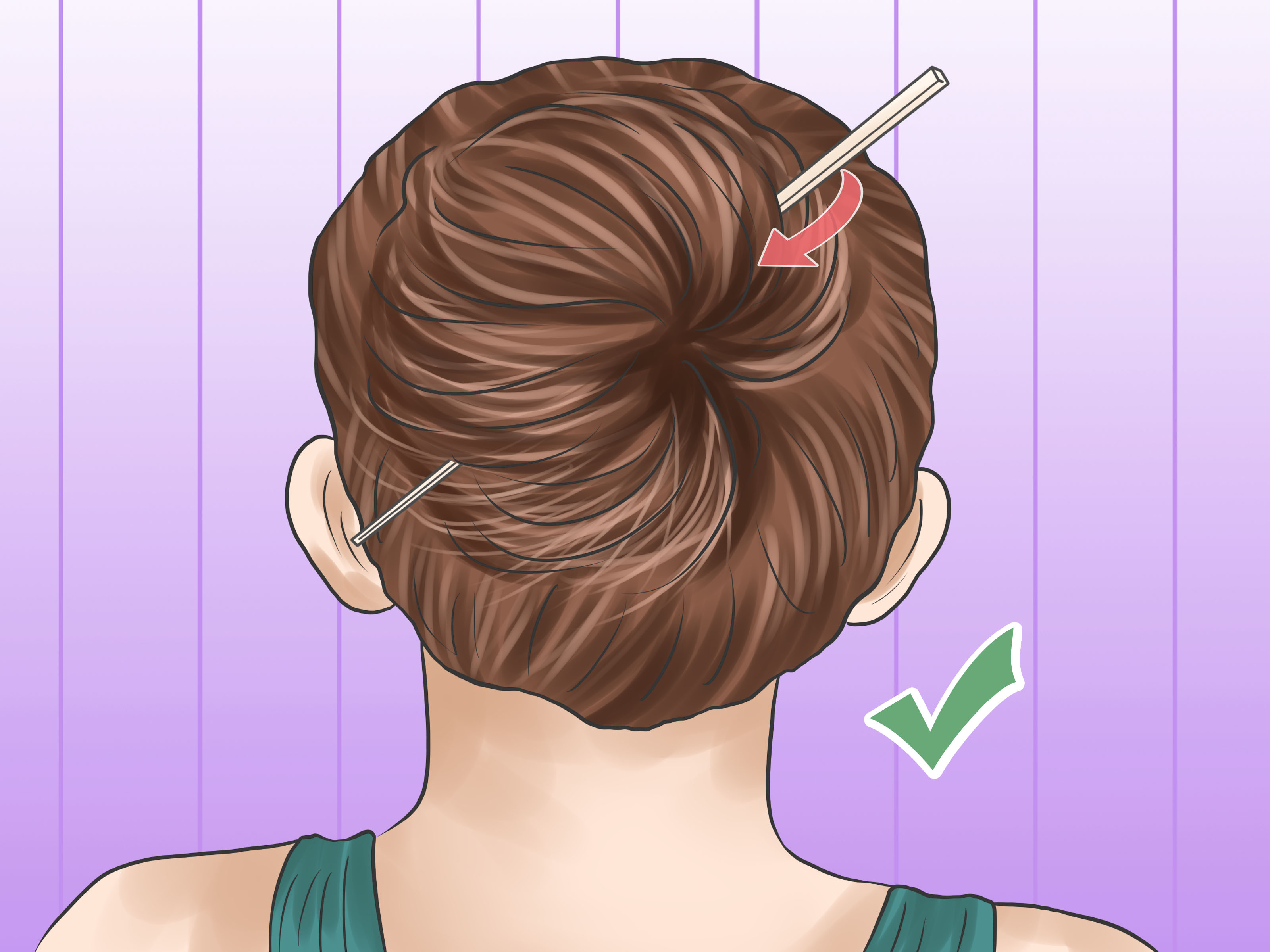 5 Ways to Put Your Hair up With a Pencil wikiHow