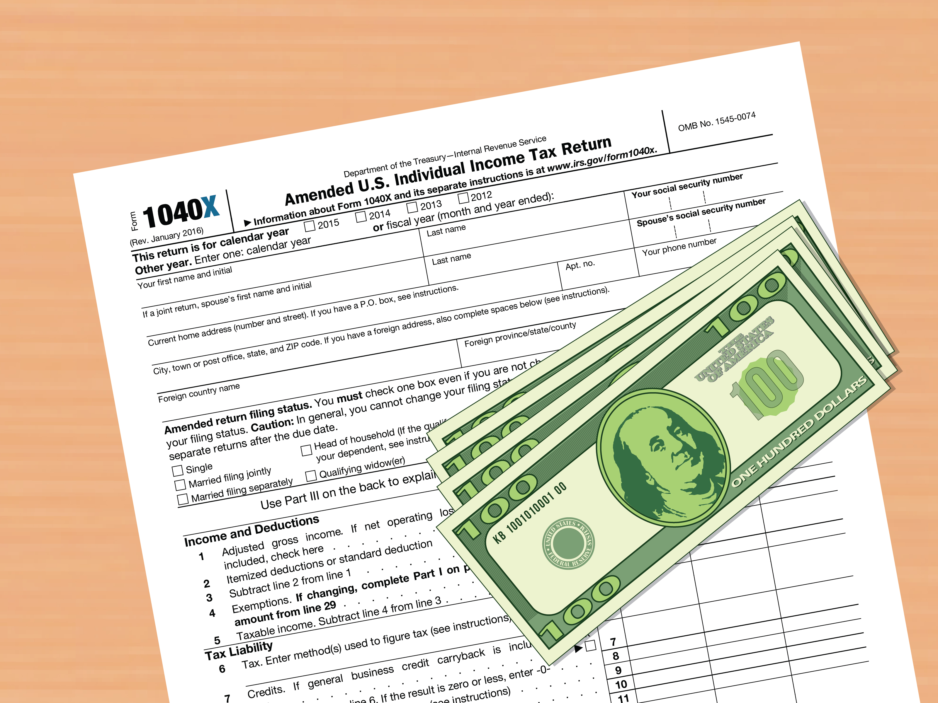 How To Amend A Federal Tax Return With Pictures