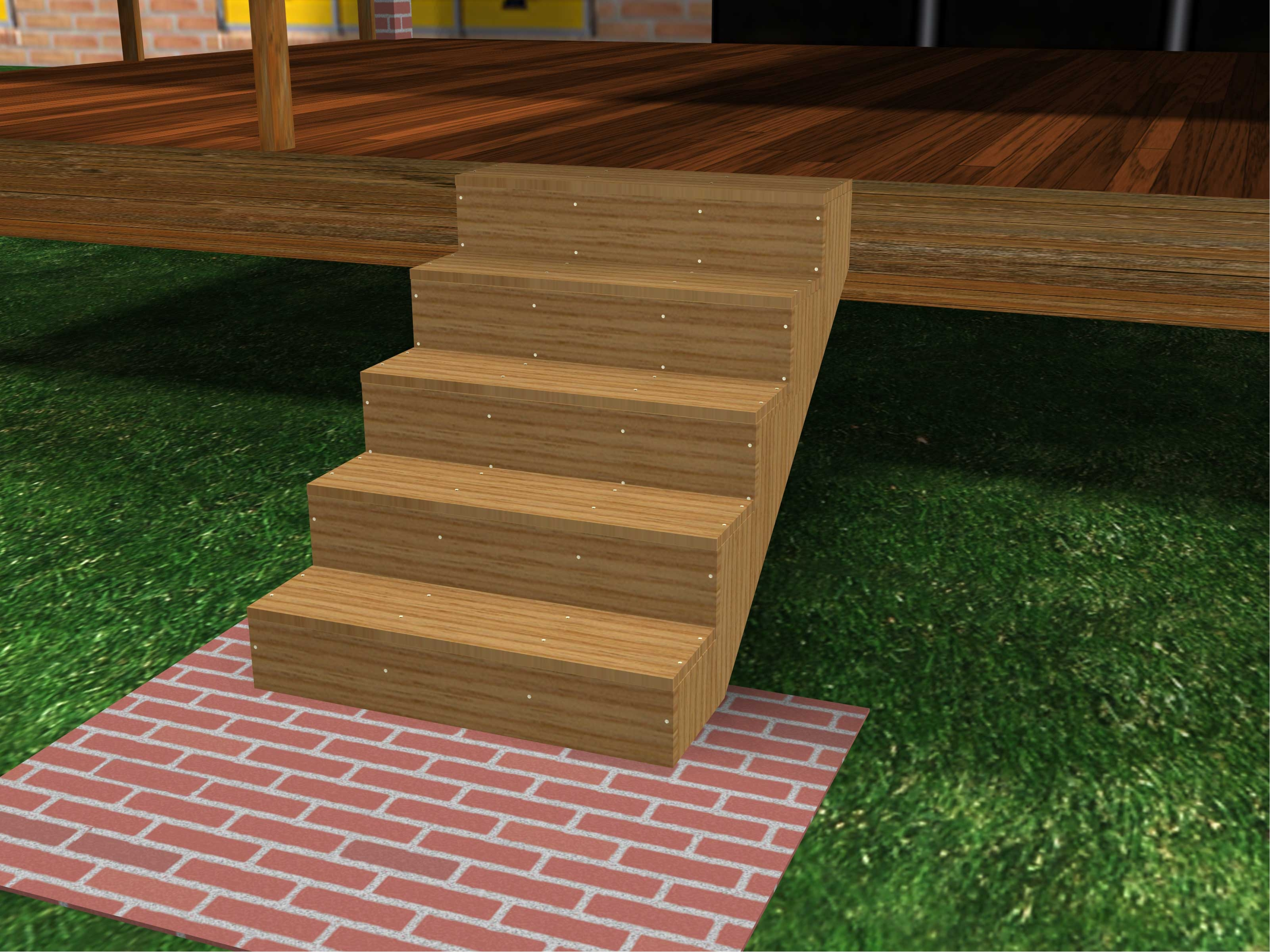 How To Build Porch Steps 13 Steps With Pictures Wikihow   Premade Steps For Outside   Front Porch   Concrete   Wooden   Precast Concrete Steps   Deck Stairs