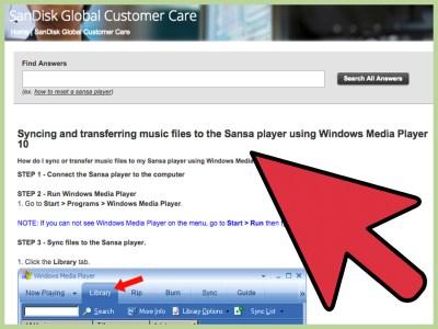 How to Sync Songs Onto a Sansa Using Windows Media Player