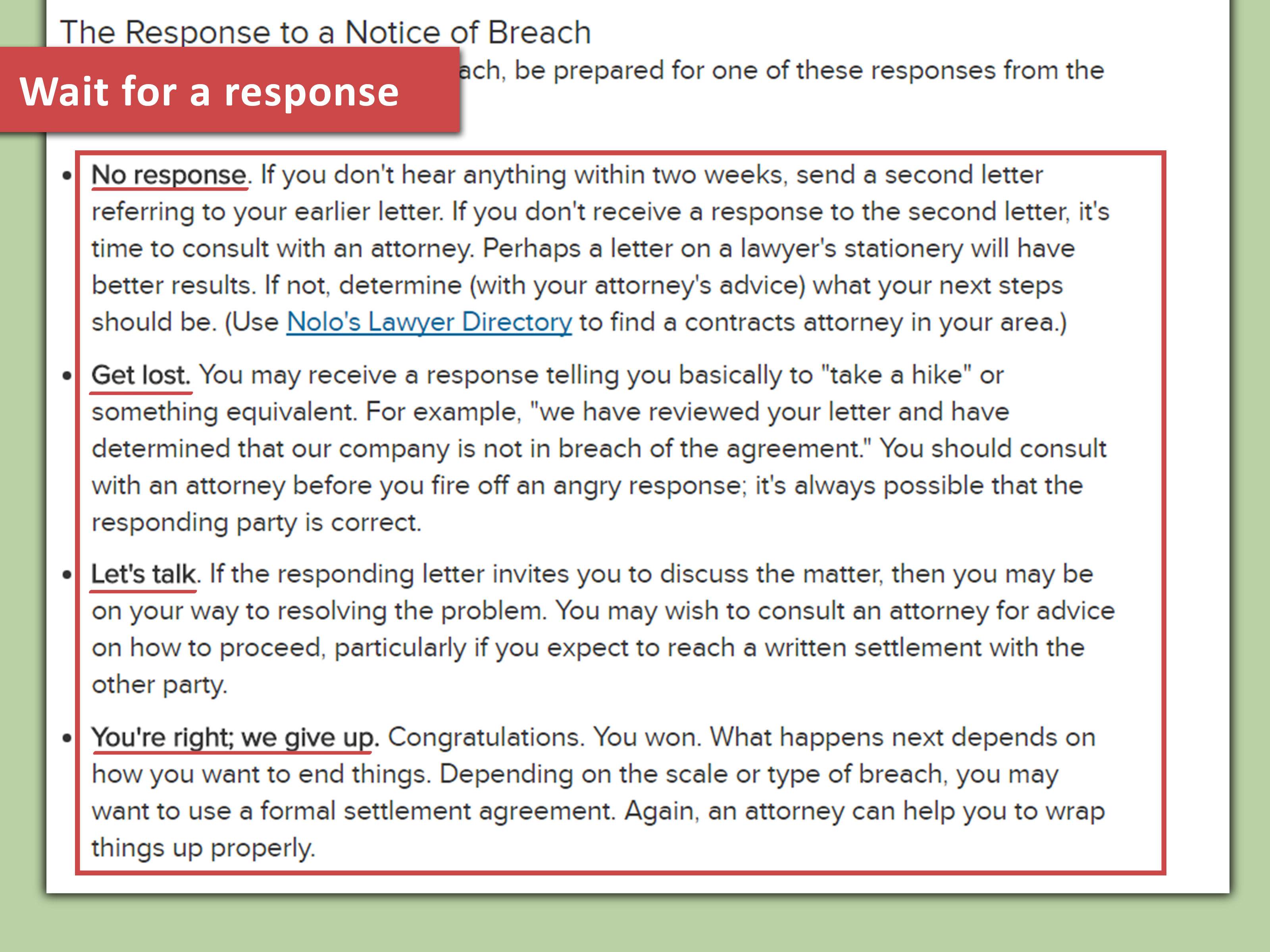 Lawyer Approved Advice On How To Write A Breach Of