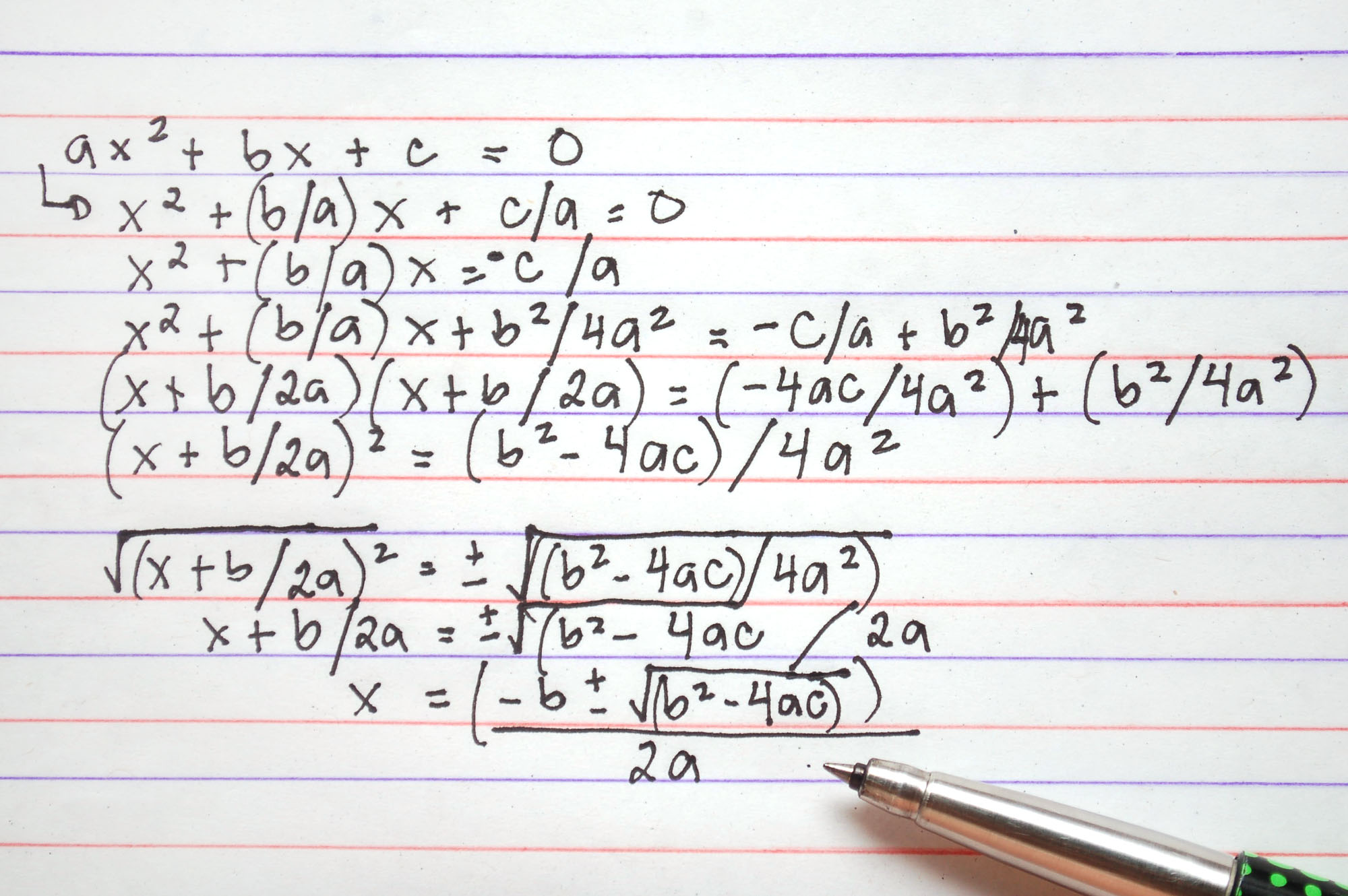 2 Easy Ways To Derive The Quadratic Formula With Pictures