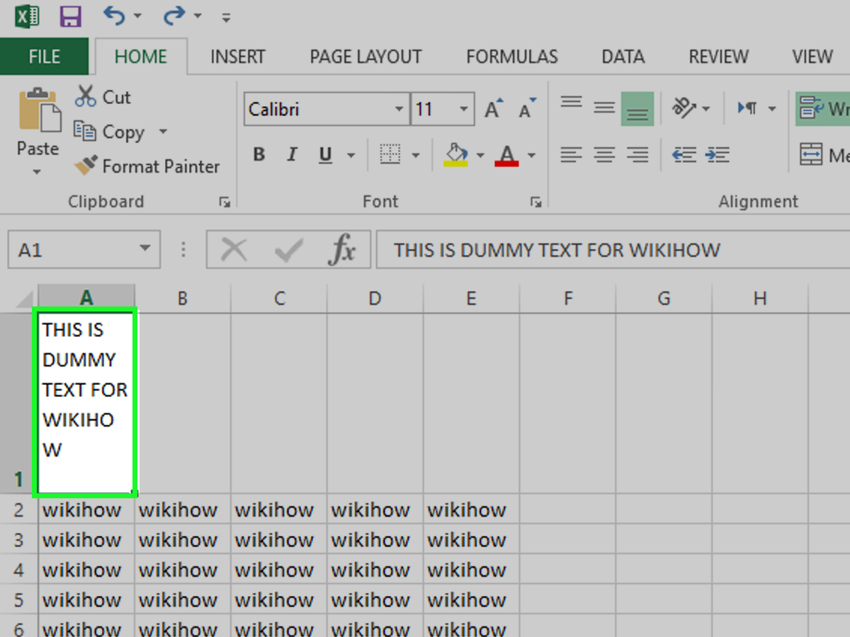 How To Create A Line Break In Ms Excel 7 Steps With