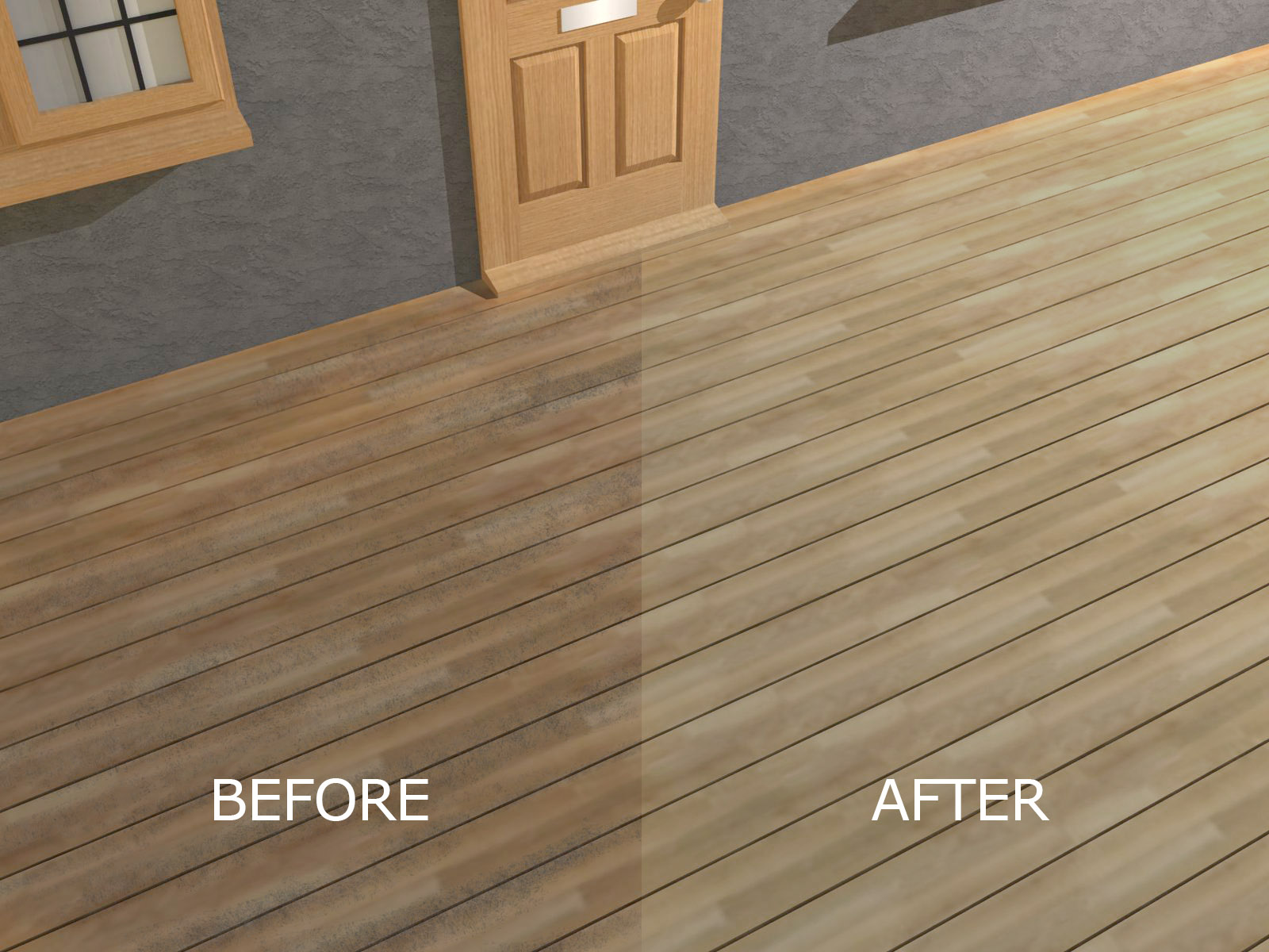How To Seal And Stain Pressure Treated Wood Decking 4 Steps