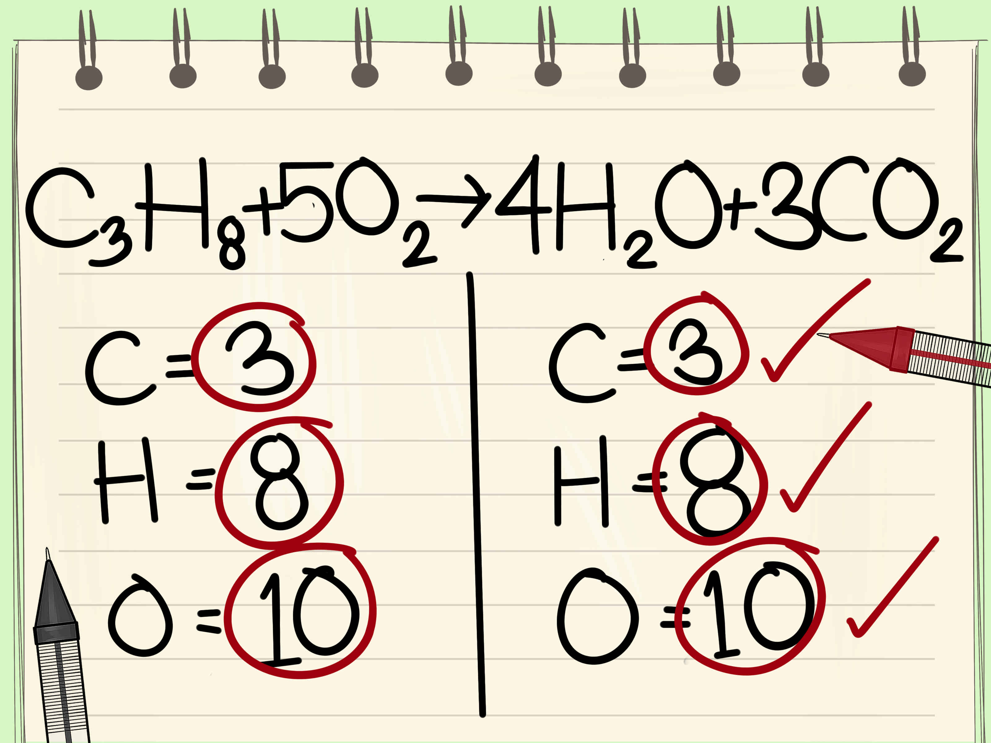 How To Balance Chemical Equations 11 Steps With Pictures