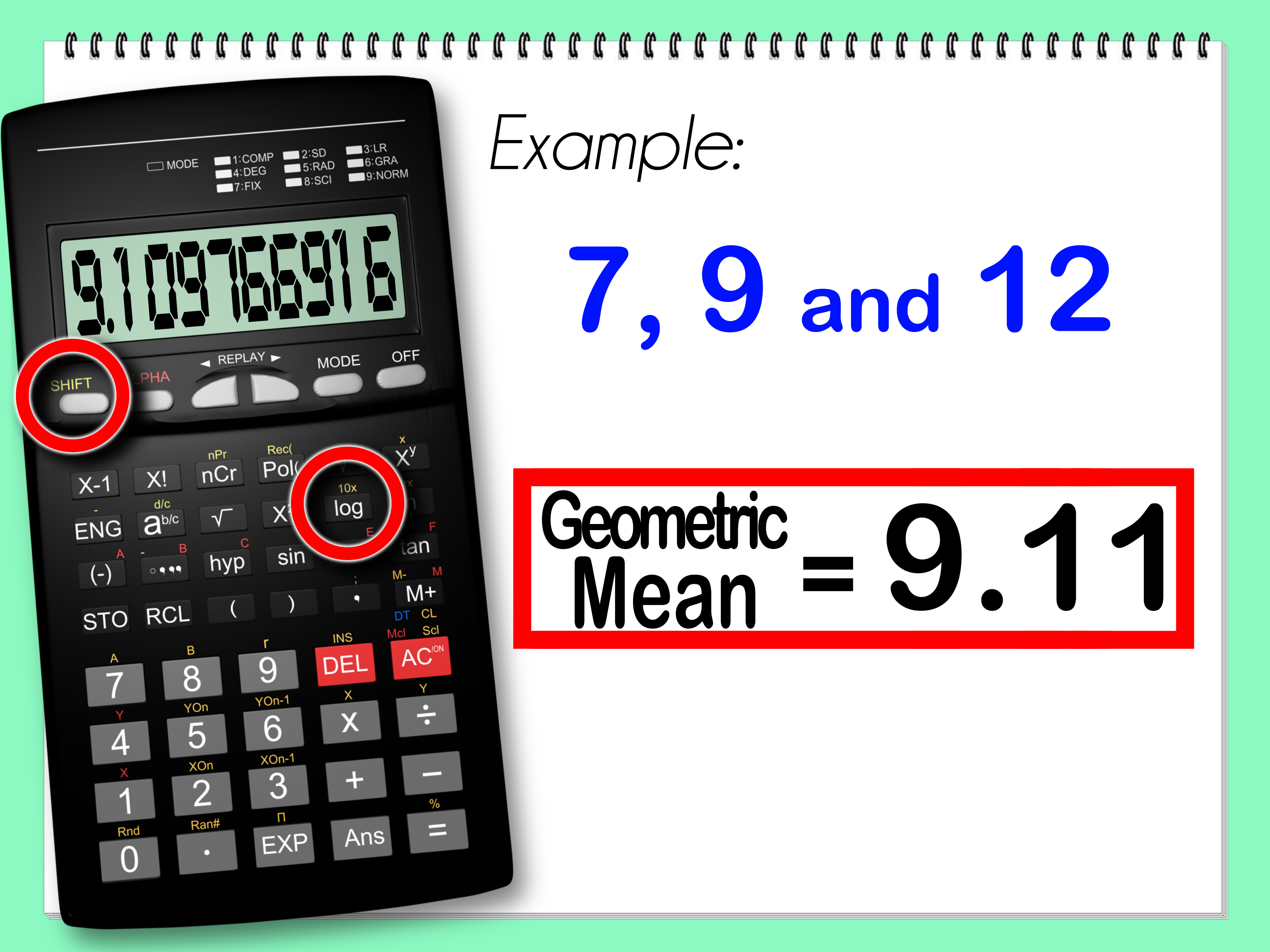How To Calculate The Geometric Mean With Calculator
