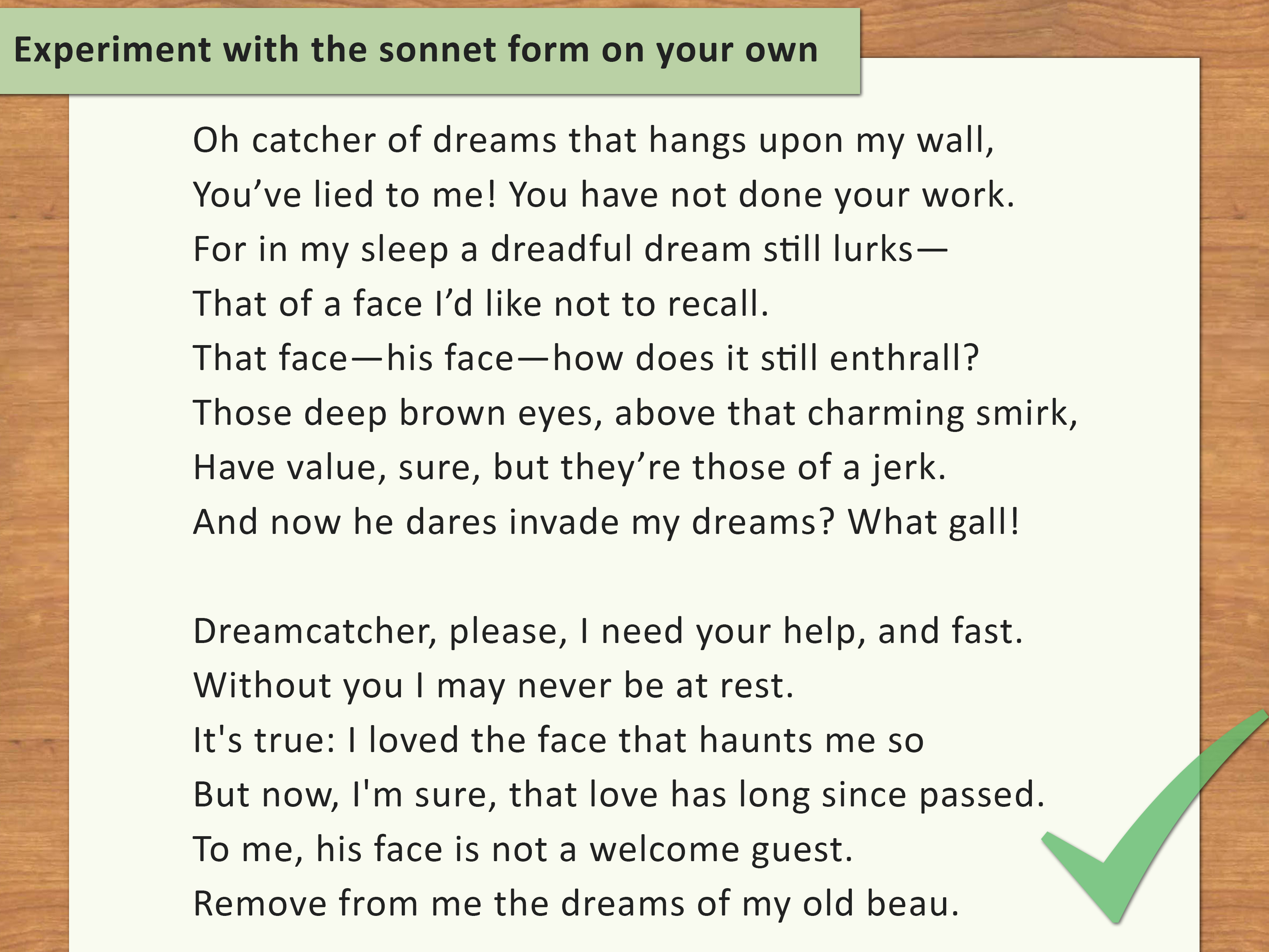 How To Write A Sonnet With 2 Sample Poems