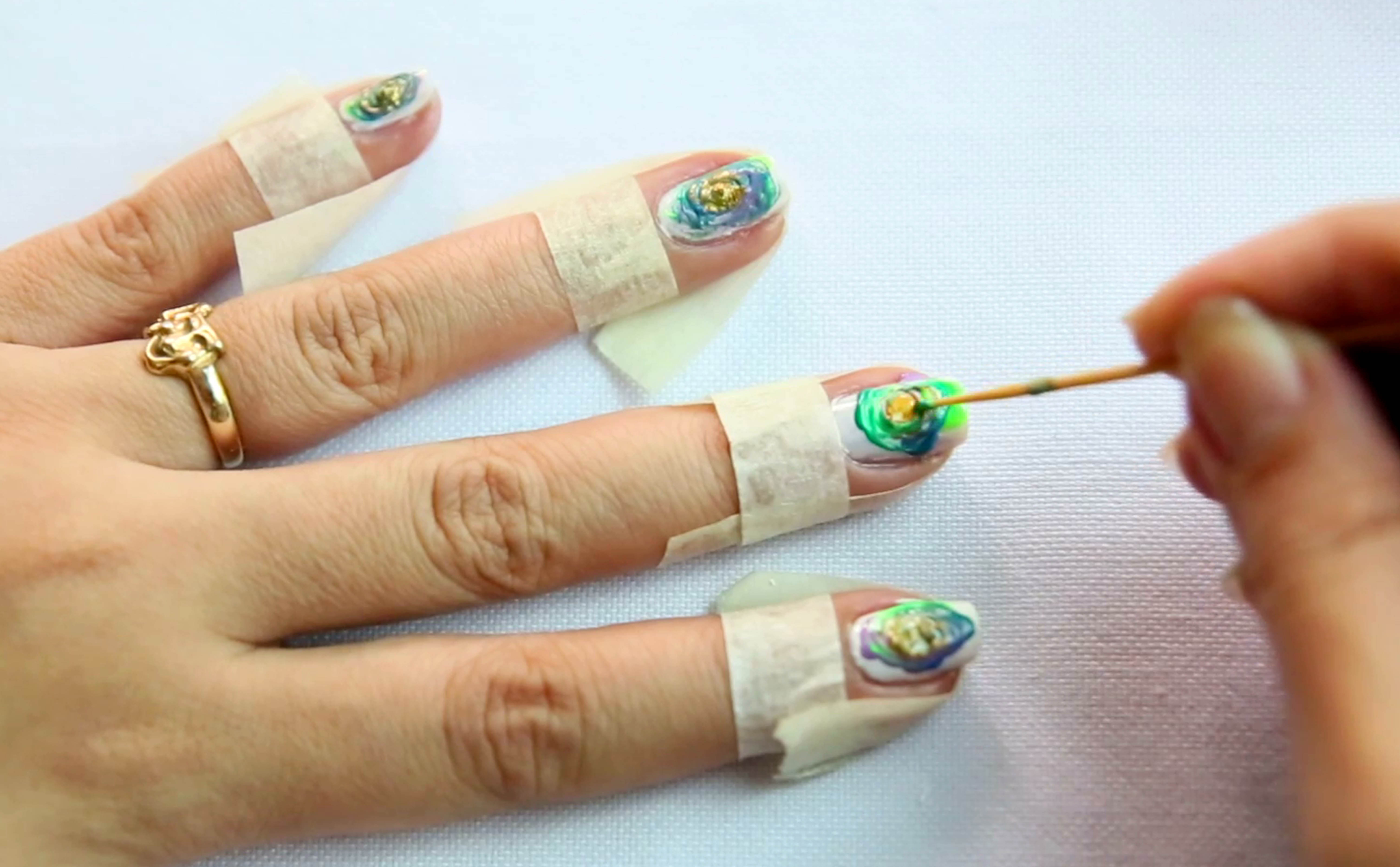 View Images How To Do Easy Nail Art With A Toothpick For Beginners Steps