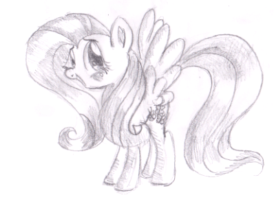 How To Draw Fluttershy From My Little Pony Friendship Is Magic