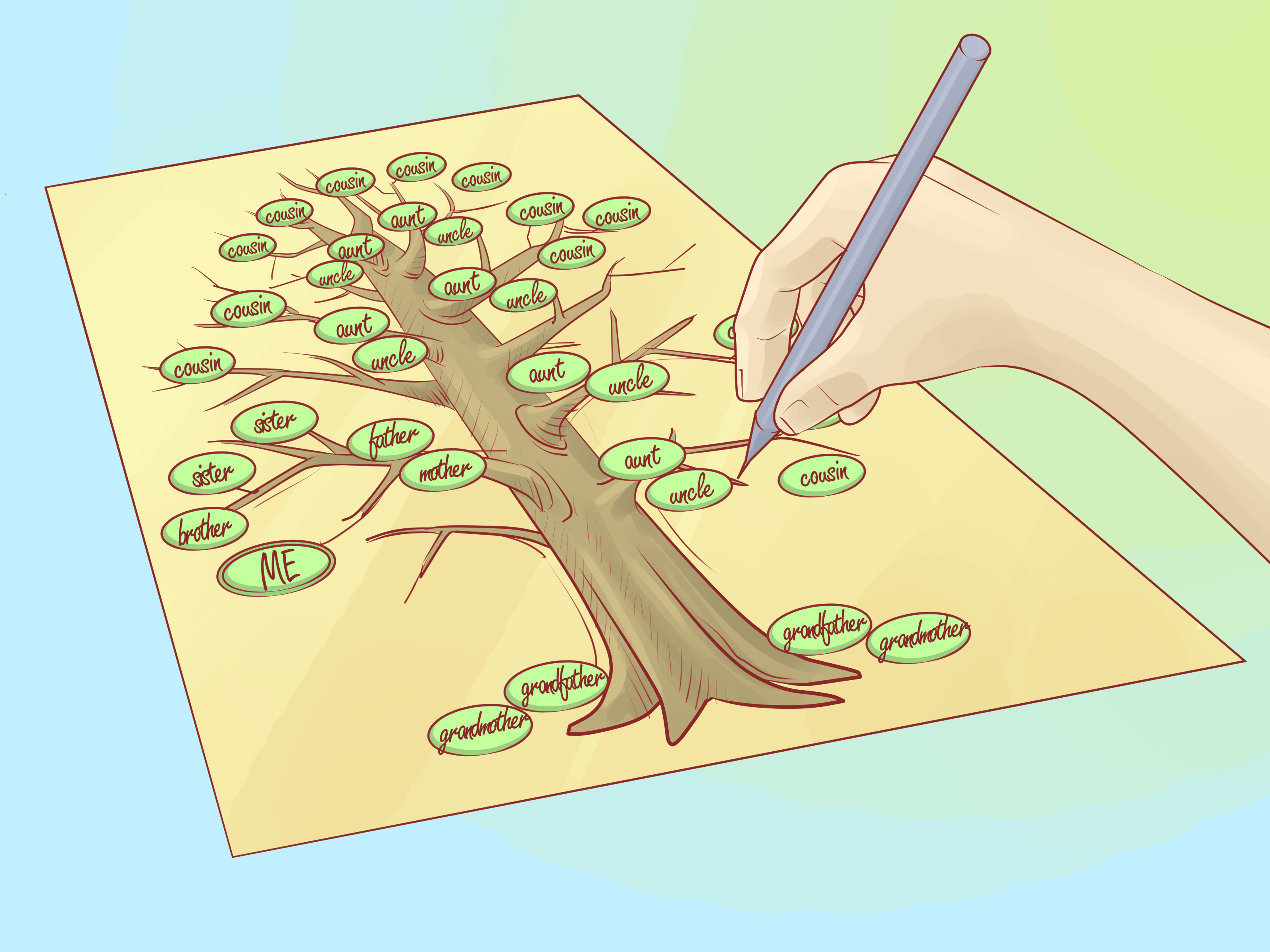 How To Draw A Family Tree 10 Steps With Pictures