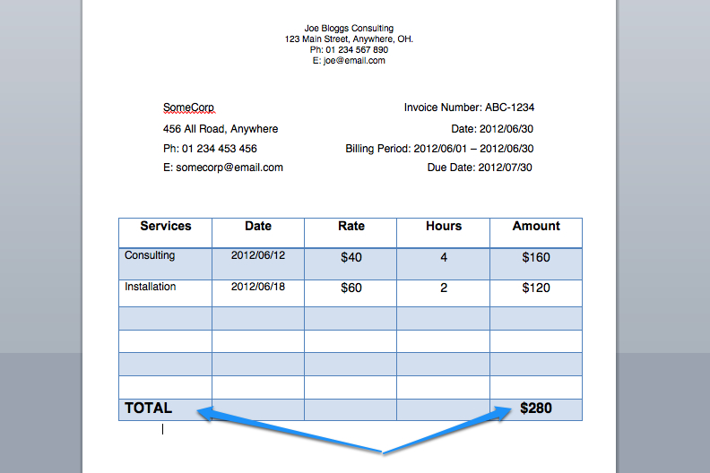 an invoice for payment for services rendered with sample invoices – Sample Receipt for Services Rendered