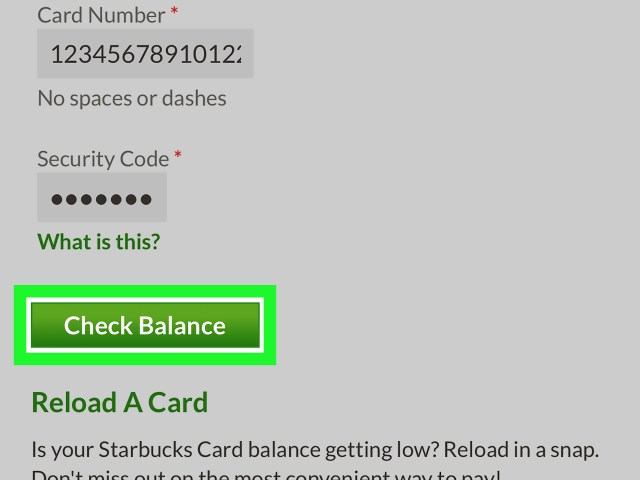 Starbucks Gift Card Balance No Security Code Applydocoument Co