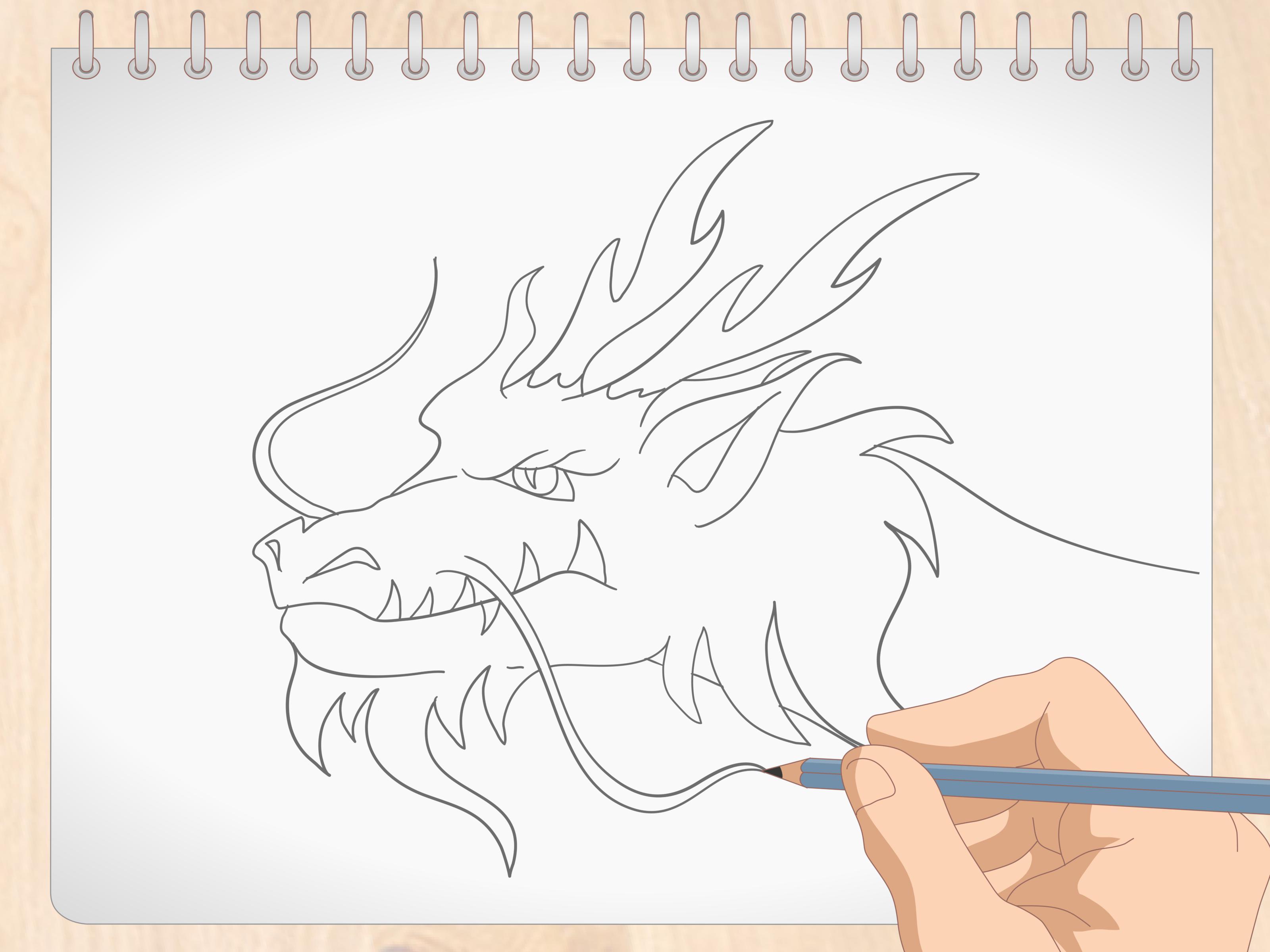 Comment Dessiner Une Tete De Dragon Avec Images