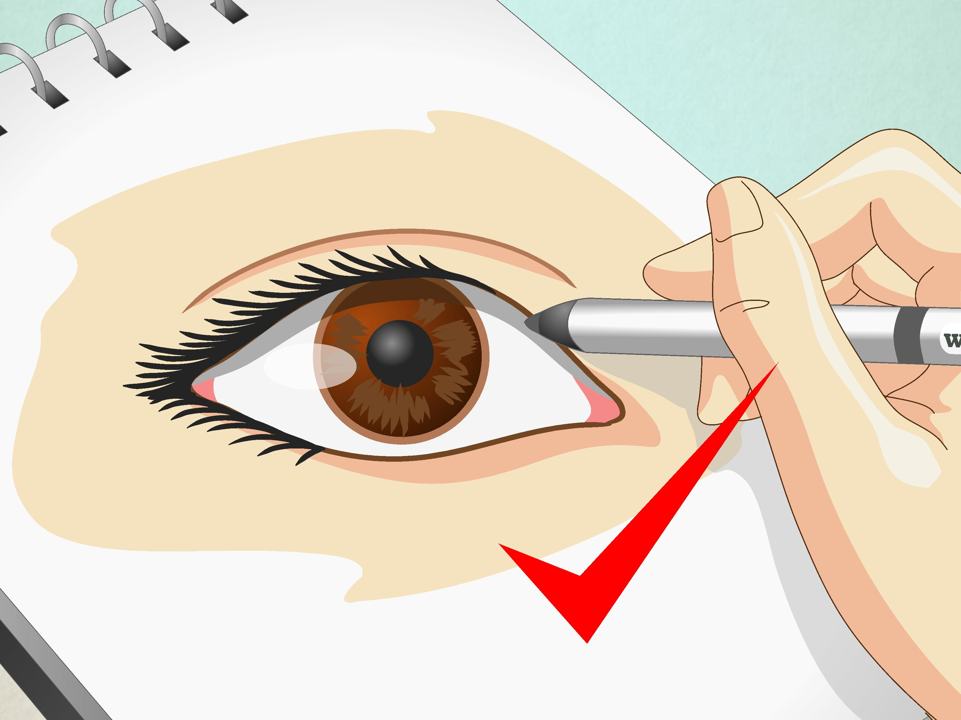 How To Draw Human Eyes 9 Steps With Pictures