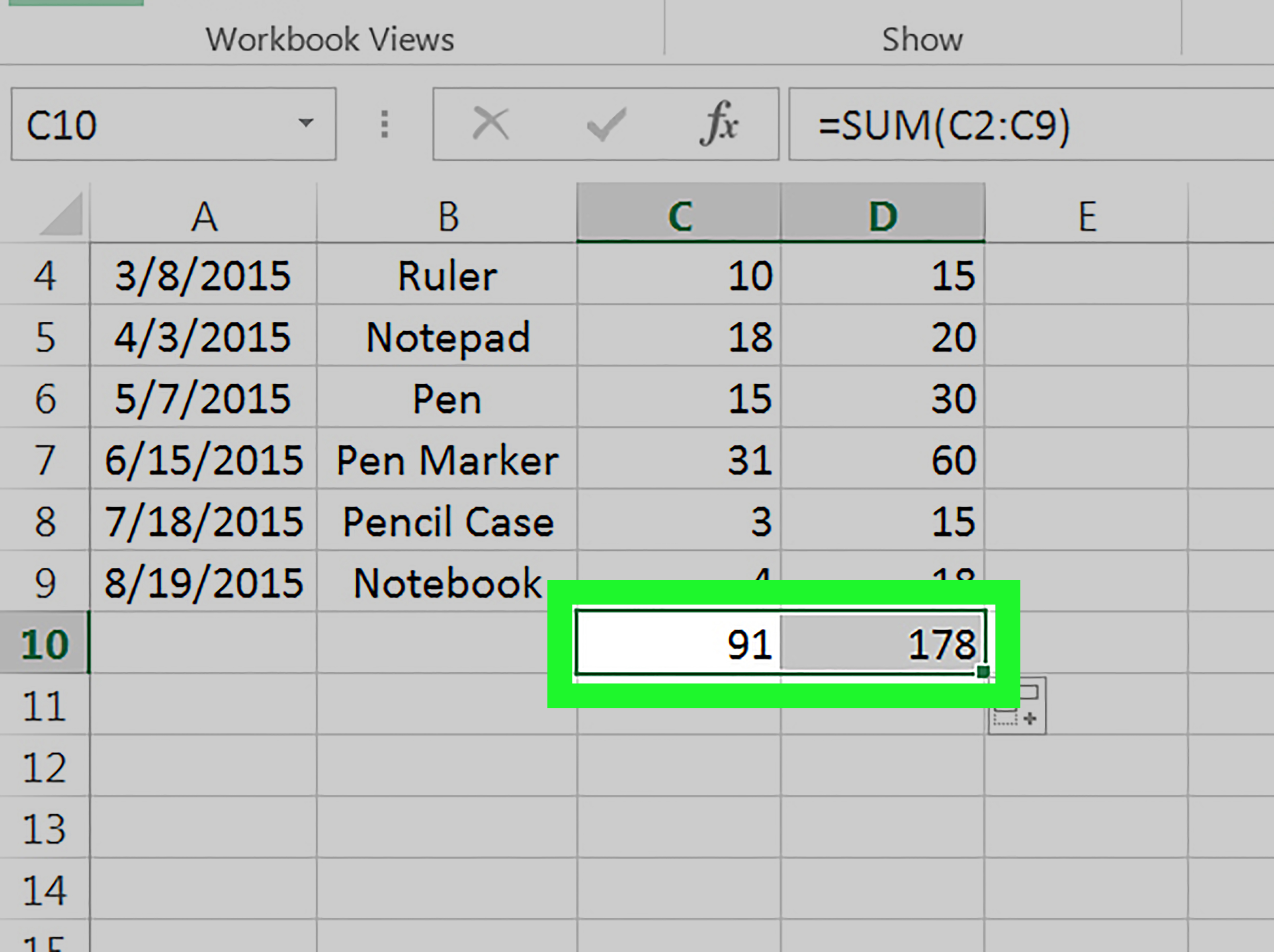 How To Drag And Copy A Formula In Excel 4 Steps With