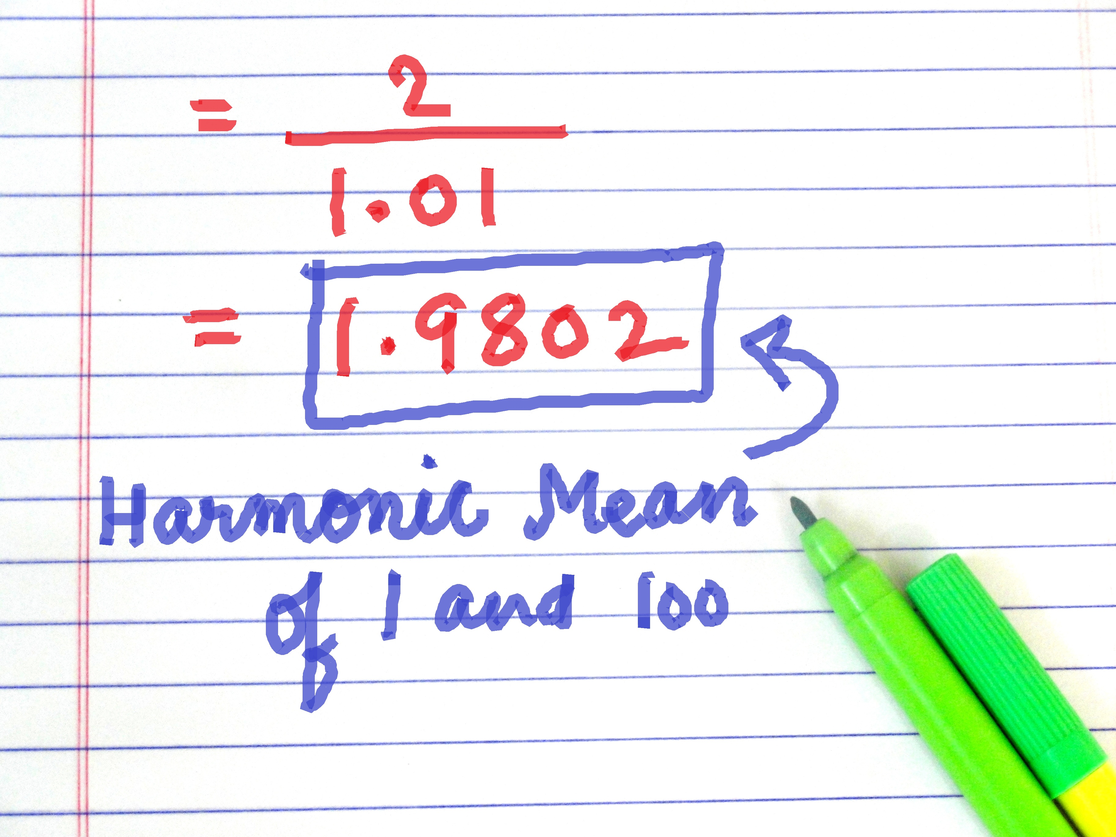 How To Calculate The Harmonic Mean 6 Steps With Pictures