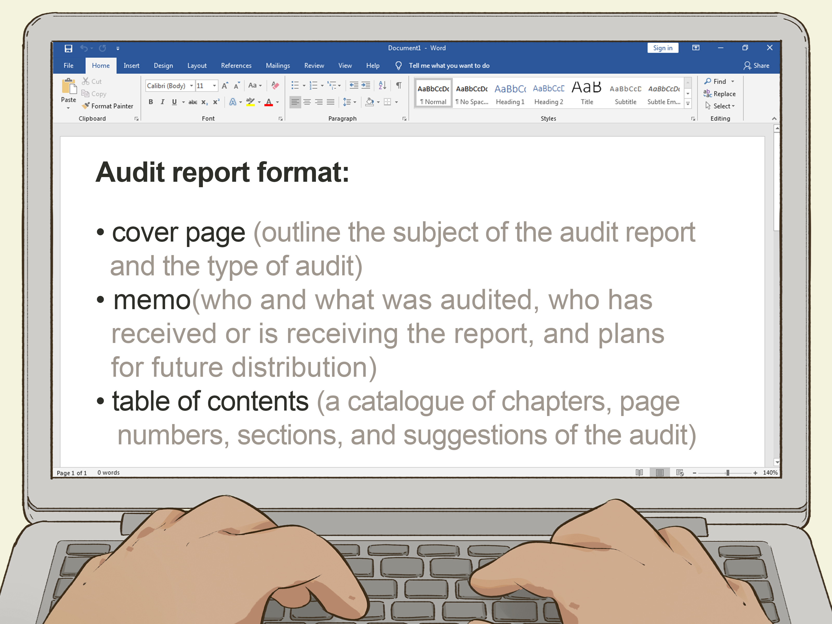 How To Write An Audit Report 14 Steps With Pictures