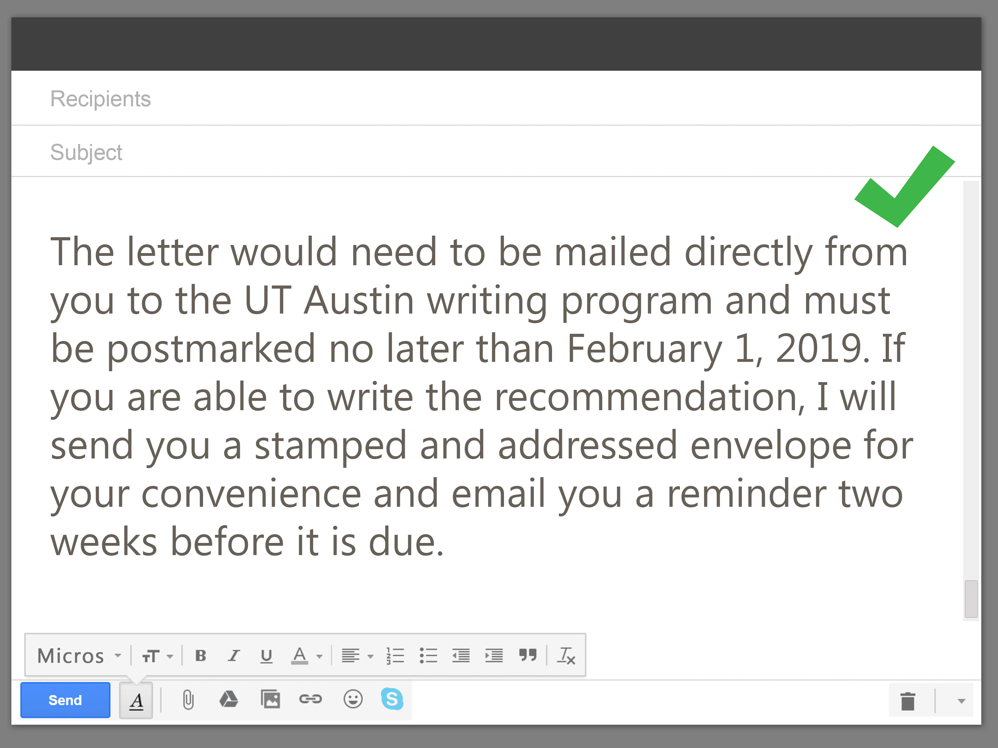 How To Write A Recommendation Request Letter To A