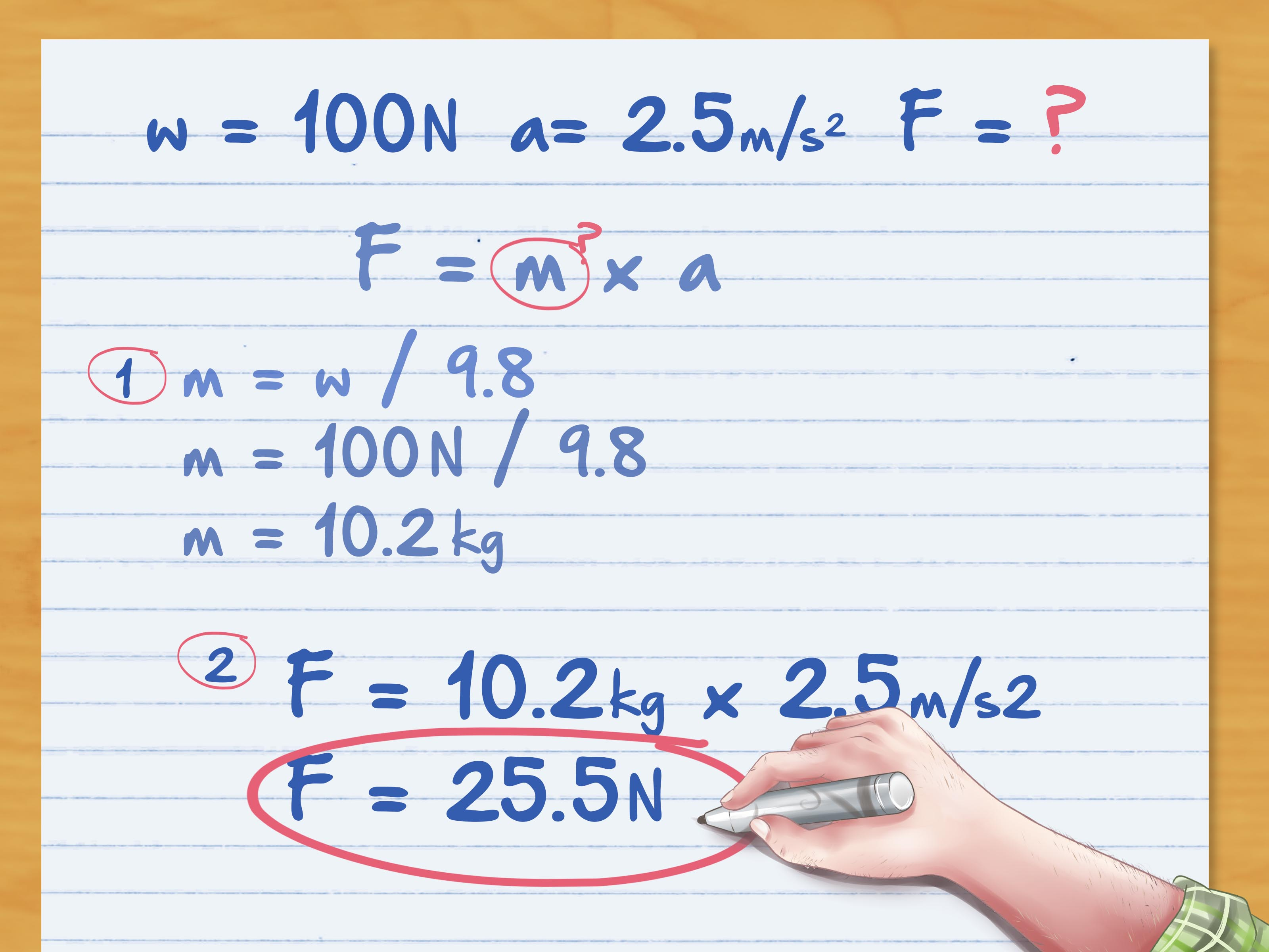 How To Calculate Force 6 Steps With Pictures