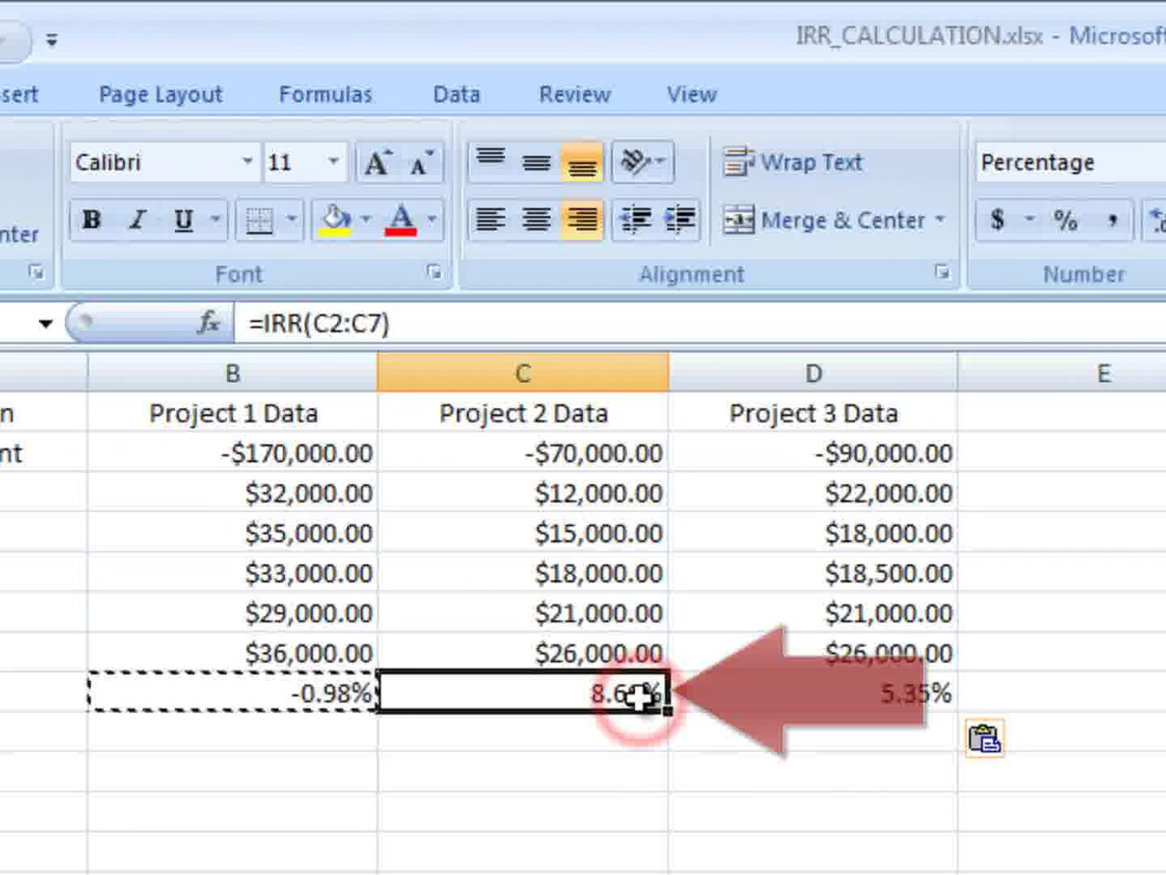How To Calculate An Irr On Excel 10 Steps With Pictures