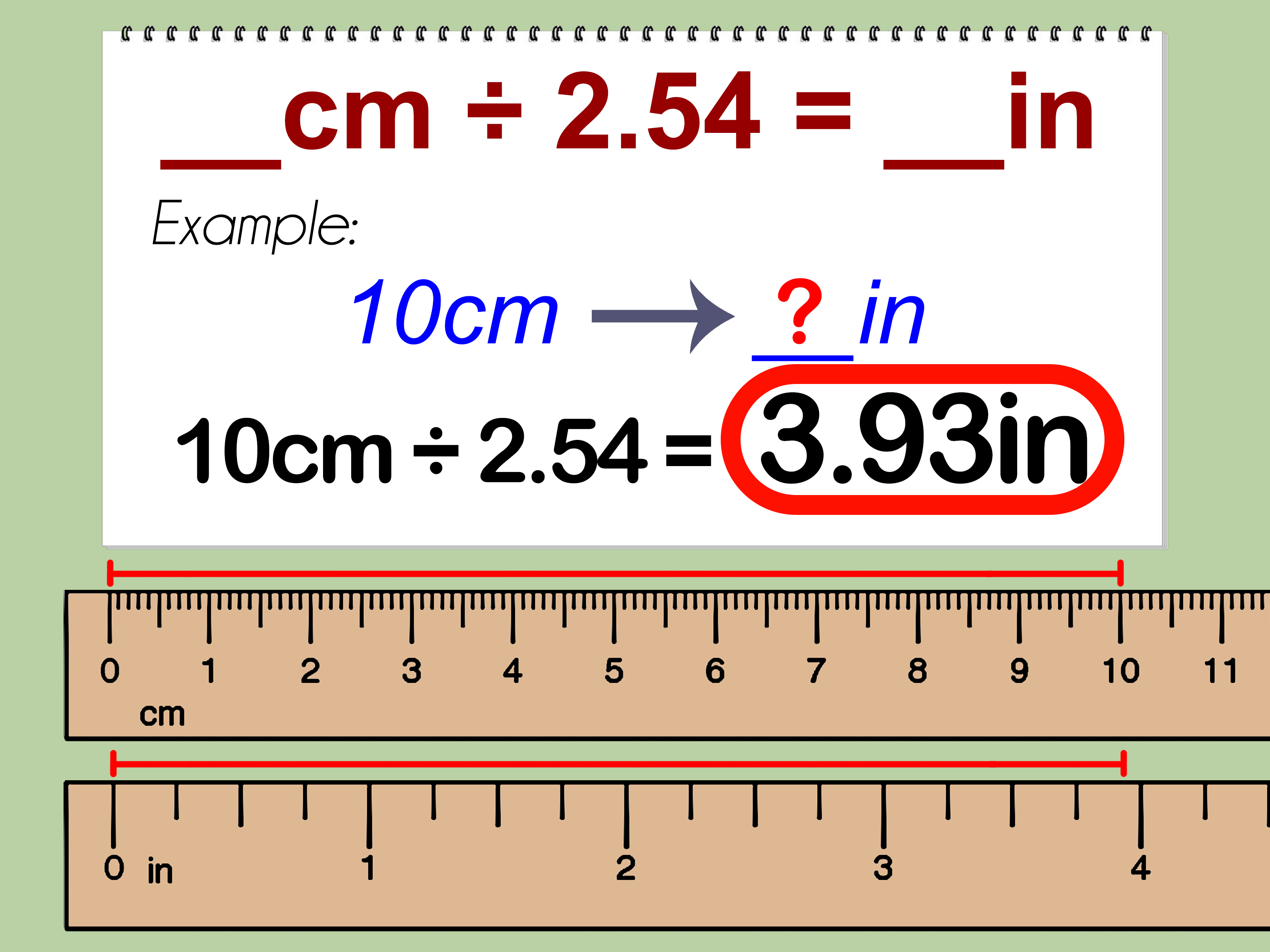 How To Convert Centimeters To Inches 3 Steps With Pictures