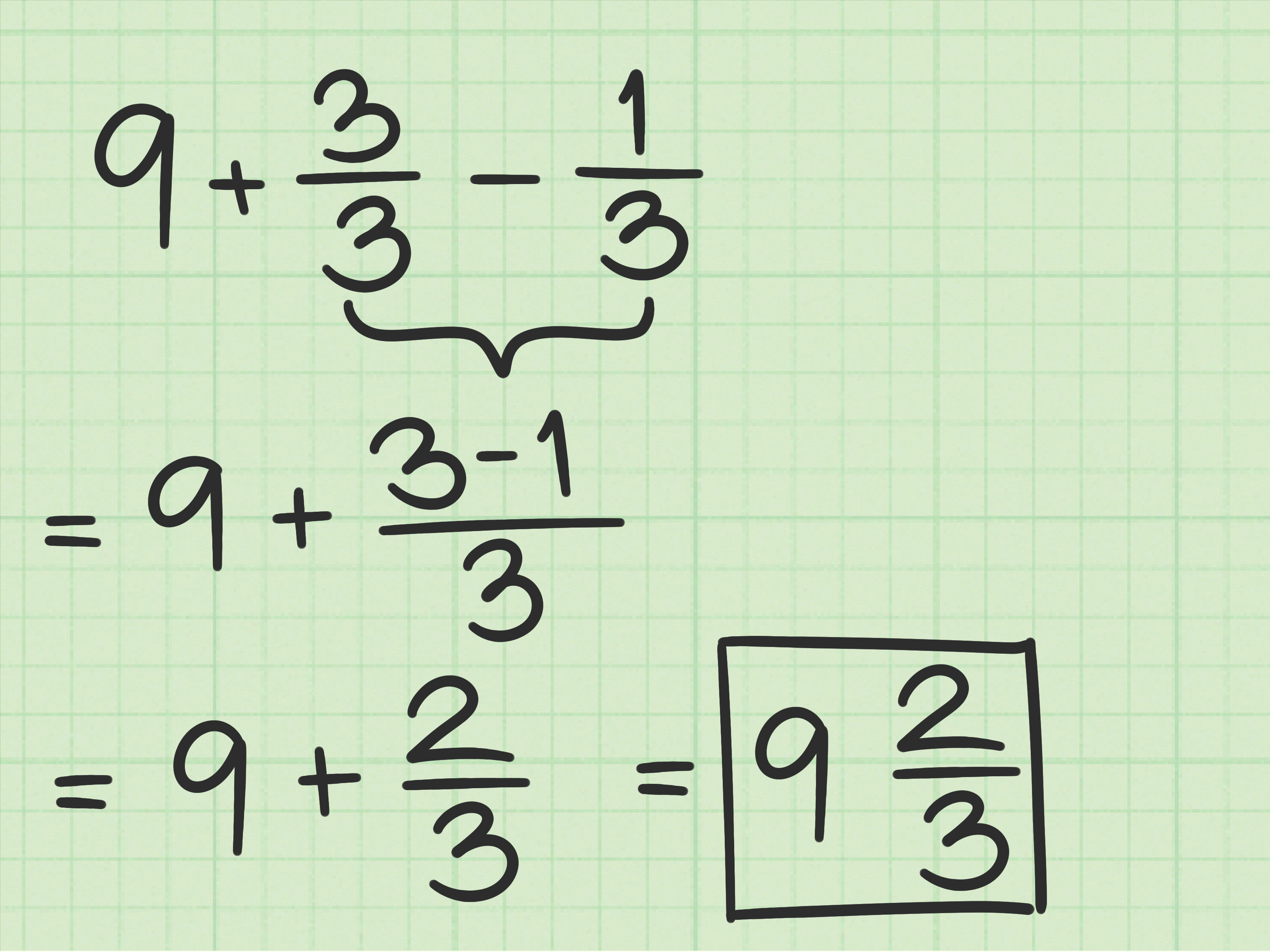 How To Subtract Fractions From Whole Numbers 10 Steps