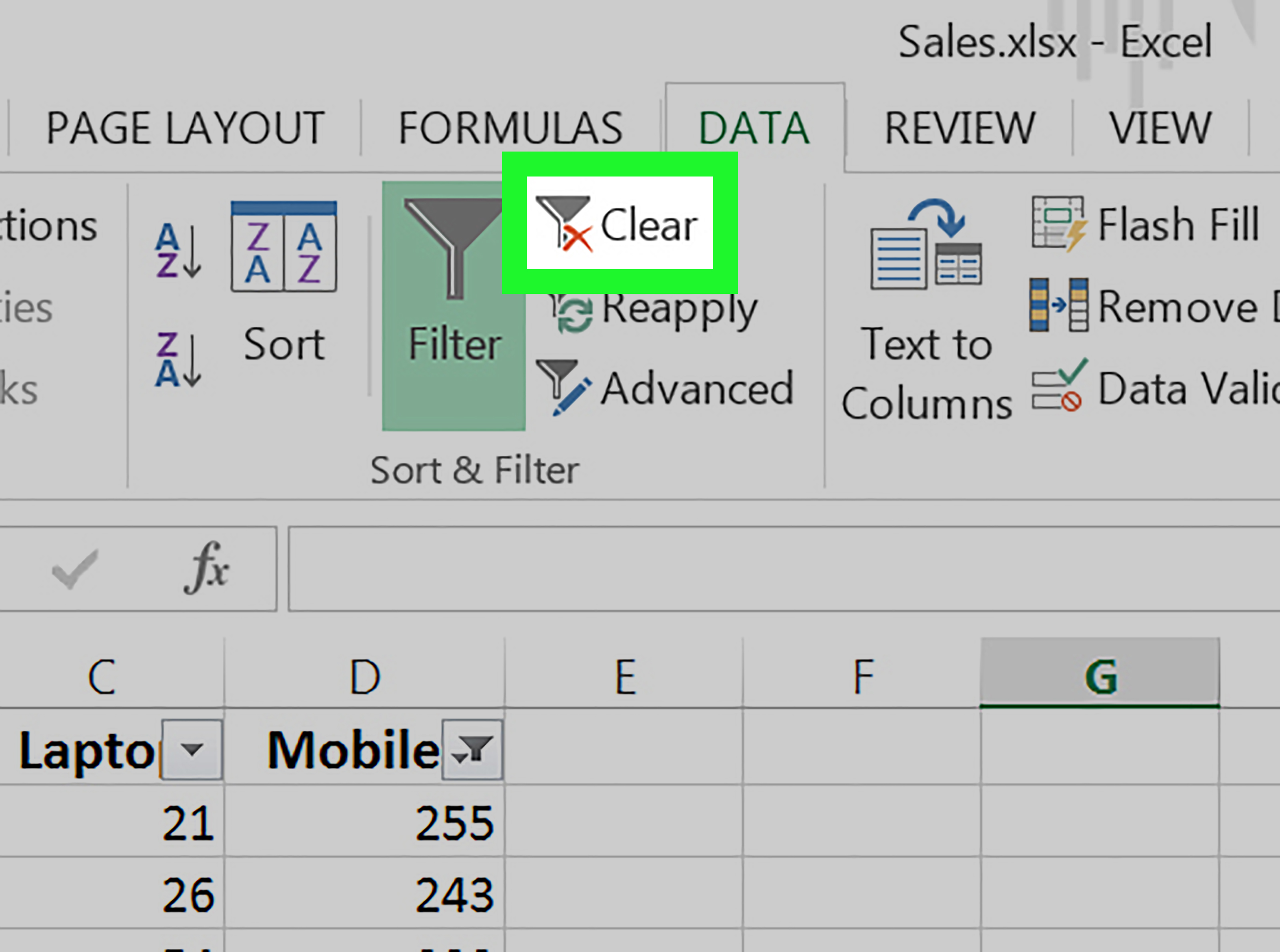 How To Clear Filters In Excel 8 Steps With Pictures