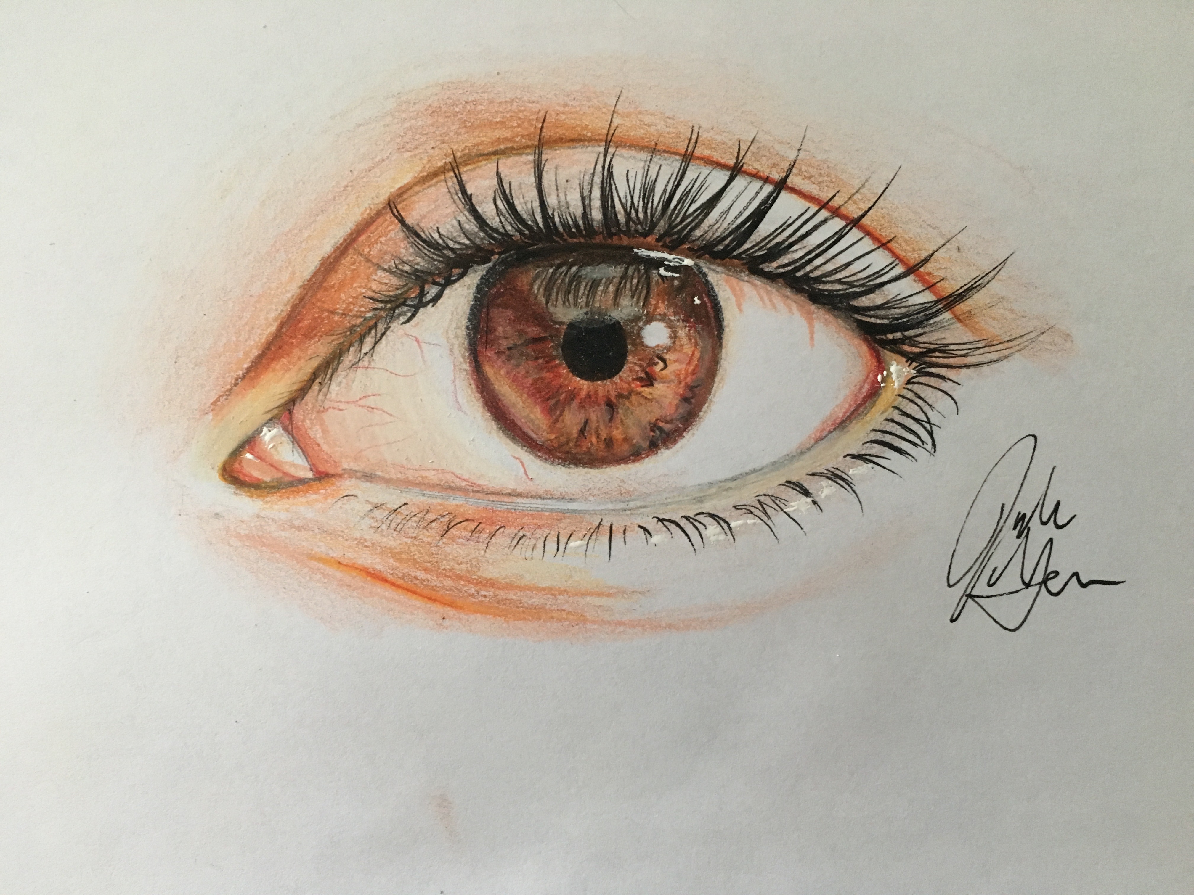 How To Draw An Eye In Colored Pencil With Pictures