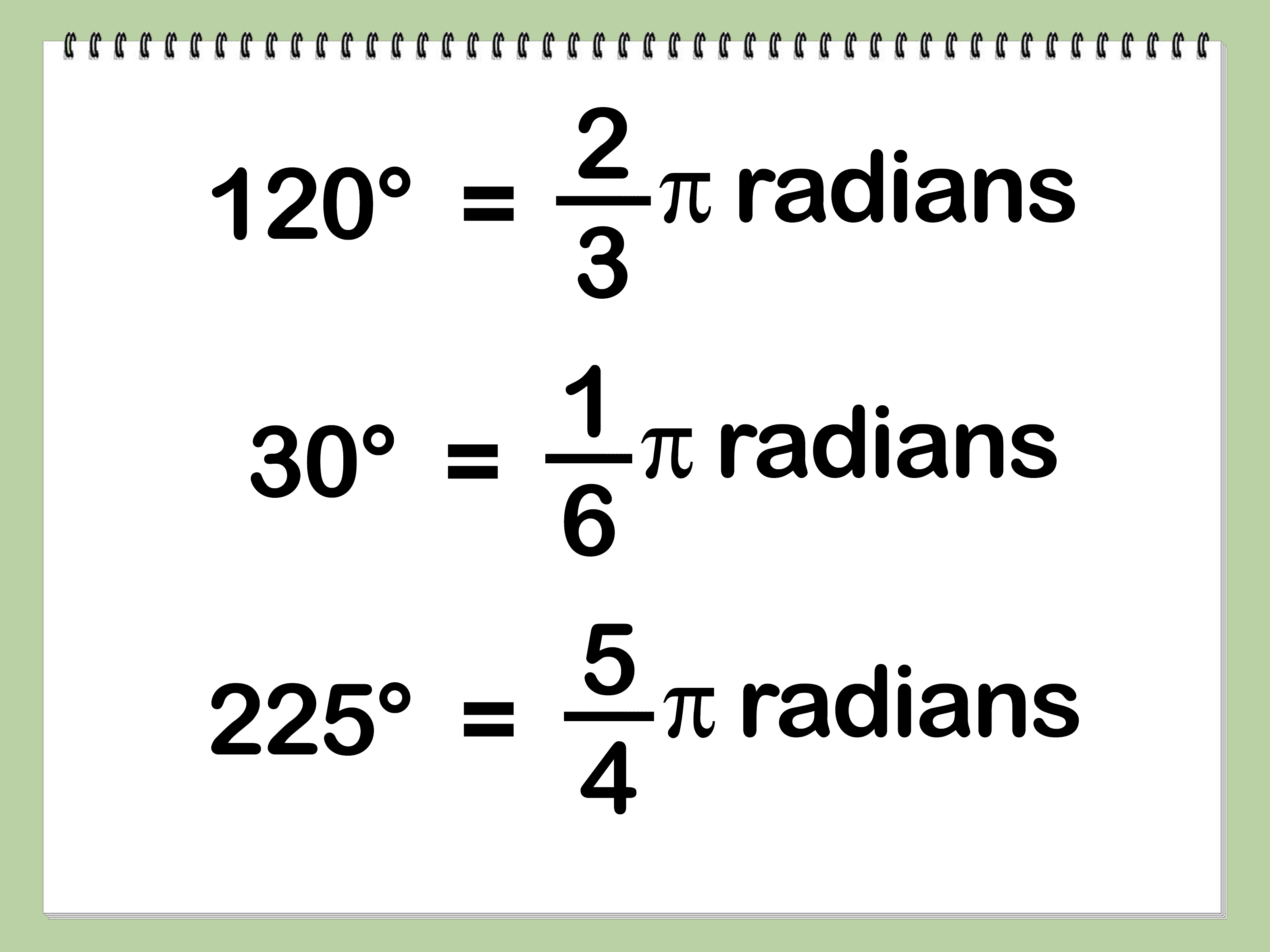 How To Convert Degrees To Radians 5 Steps With Pictures