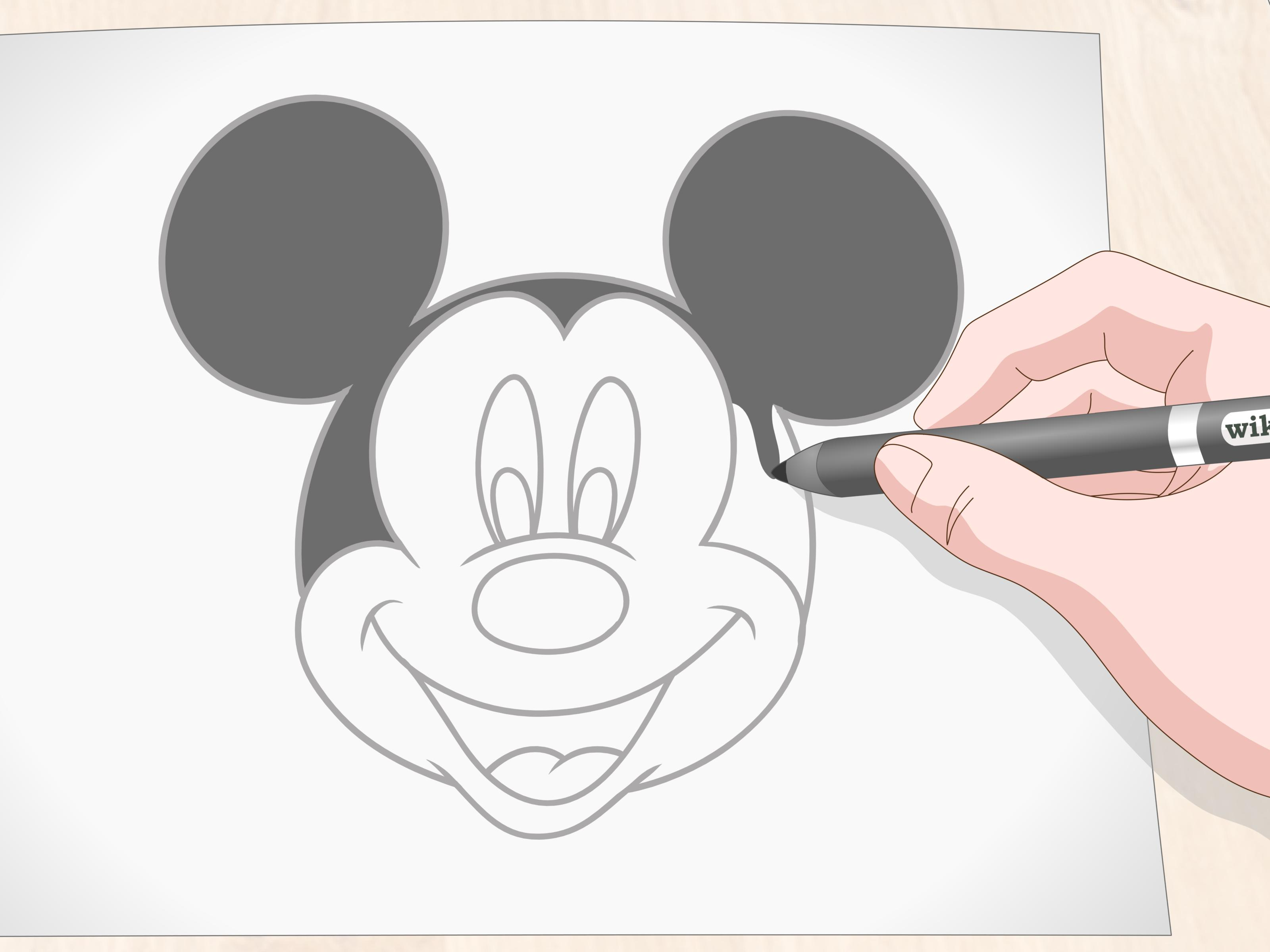3 Manieres De Dessiner Mickey Mouse Wikihow