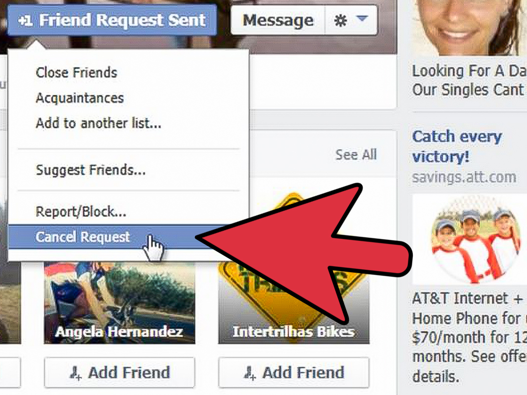 How To Cancel A Friend Request On Facebook 3 Steps