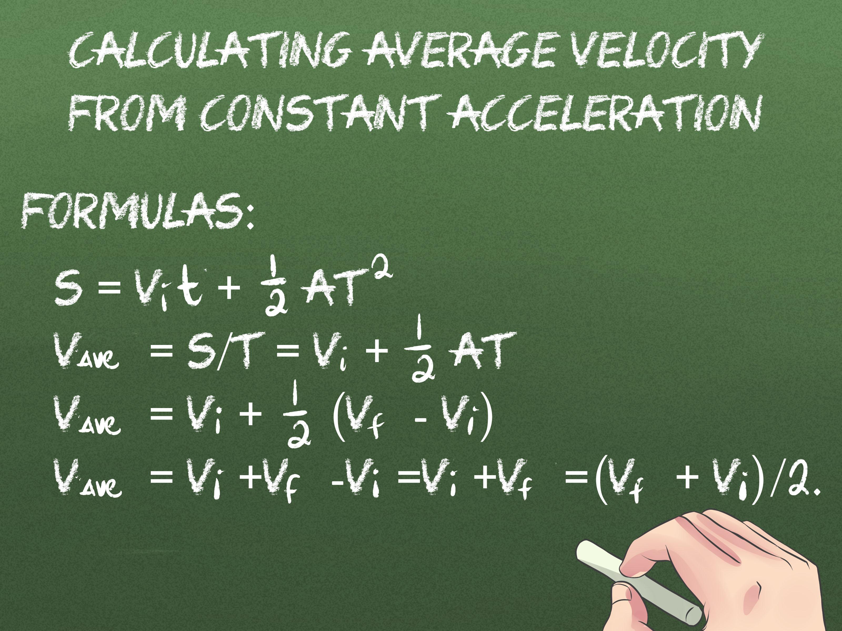 2 Ways To Calculate Average Velocity